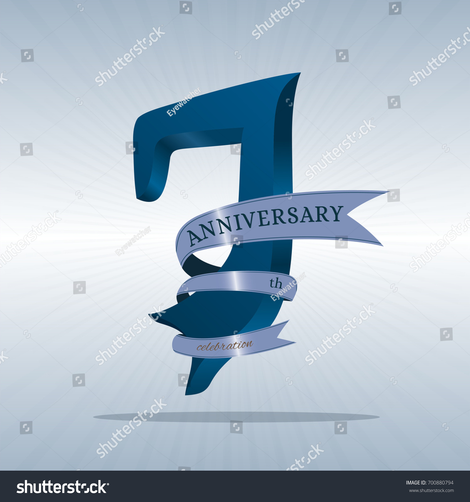 7th Anniversary Symbol Vector Stock Vector Hd Royalty Free
