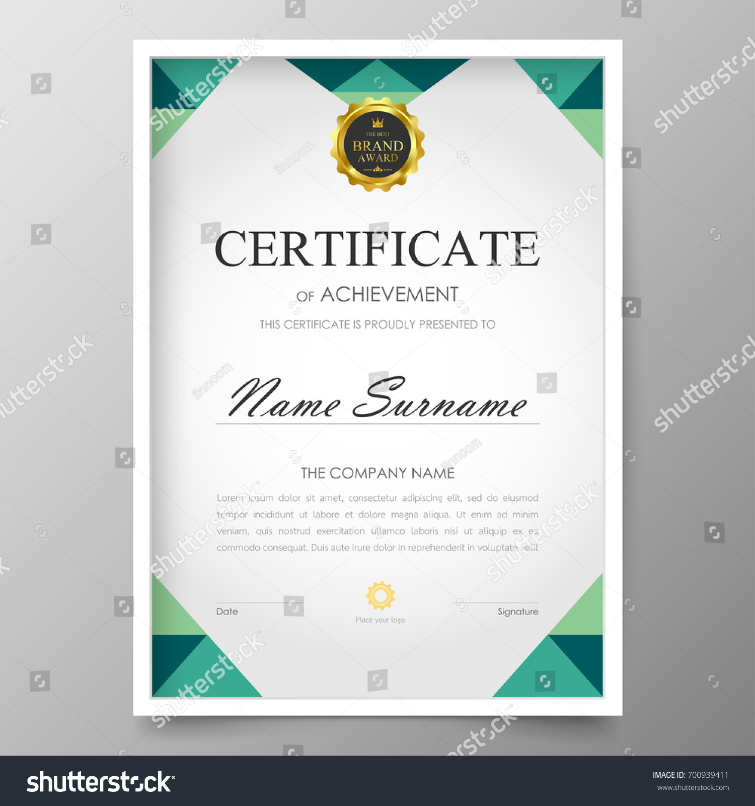 Certificate Premium Template Awards Diploma Background Stock ...
