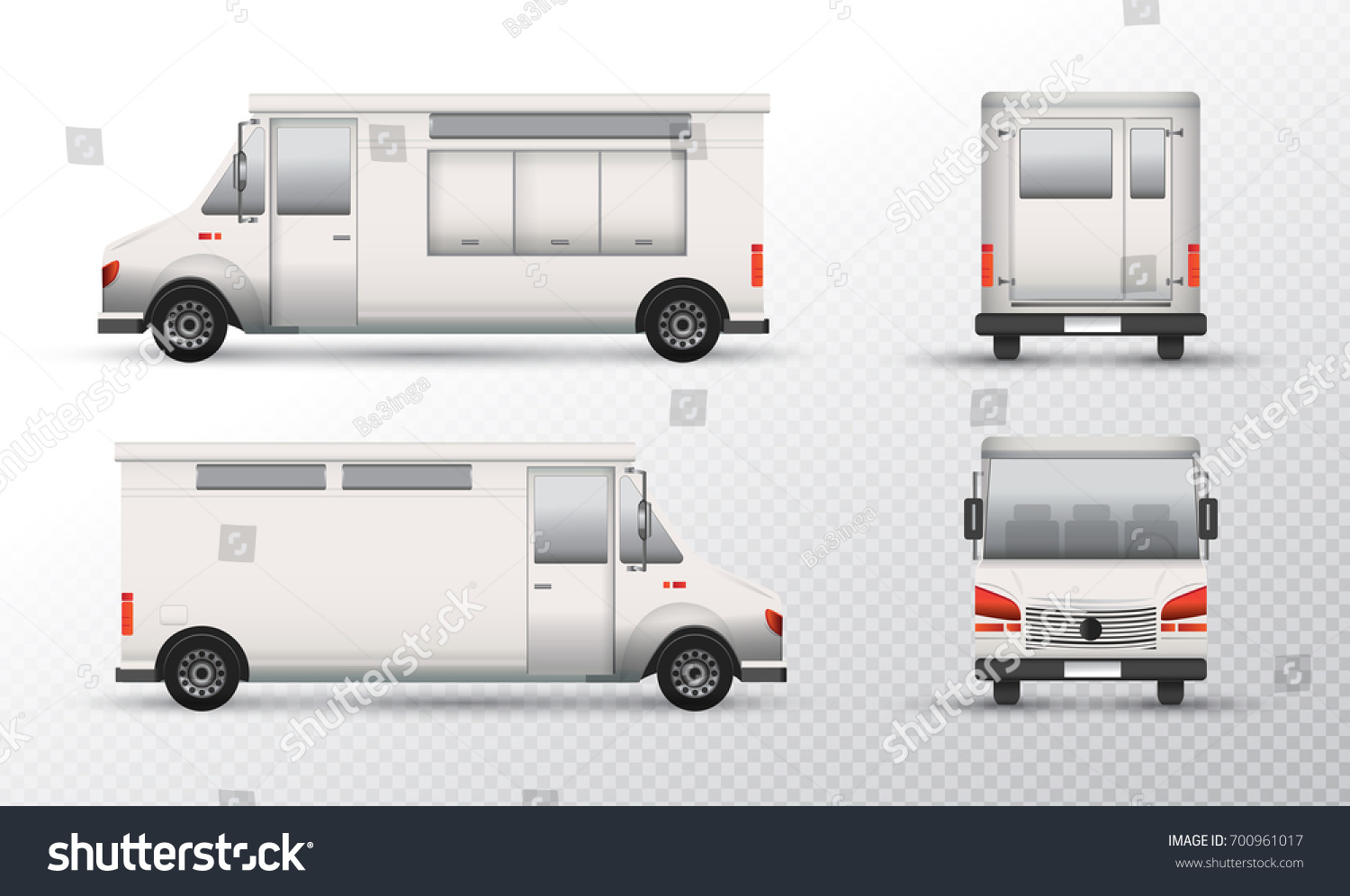food truck template design white truck stock vector royalty free