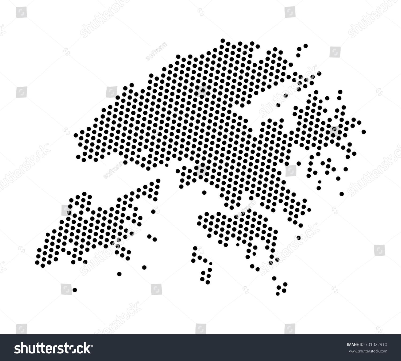 Abstract Map Hong Kong Dots Planet Stock Vector 701022910