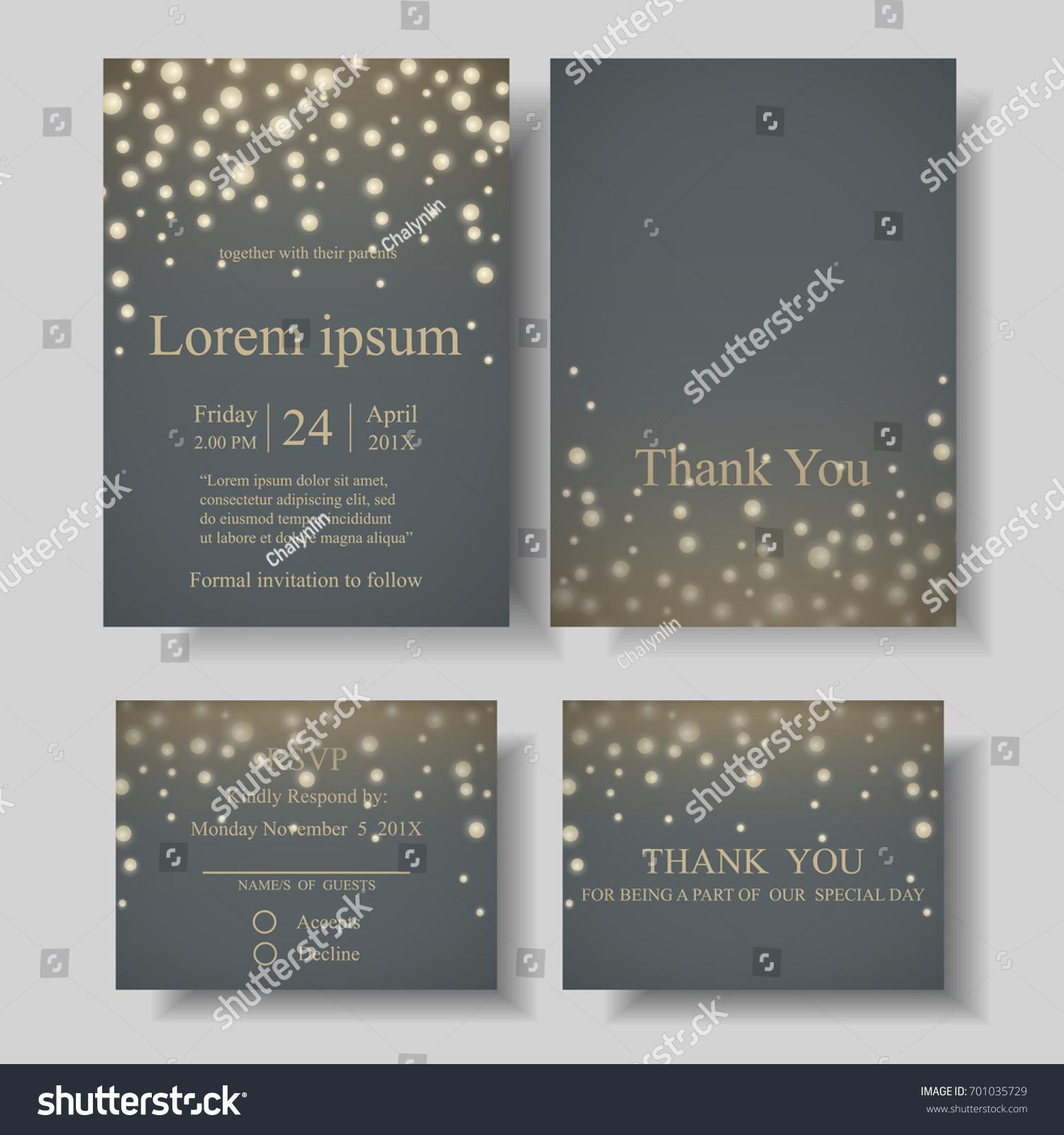 Set Firefly String Light Gray Background Stock Vector Royalty Free