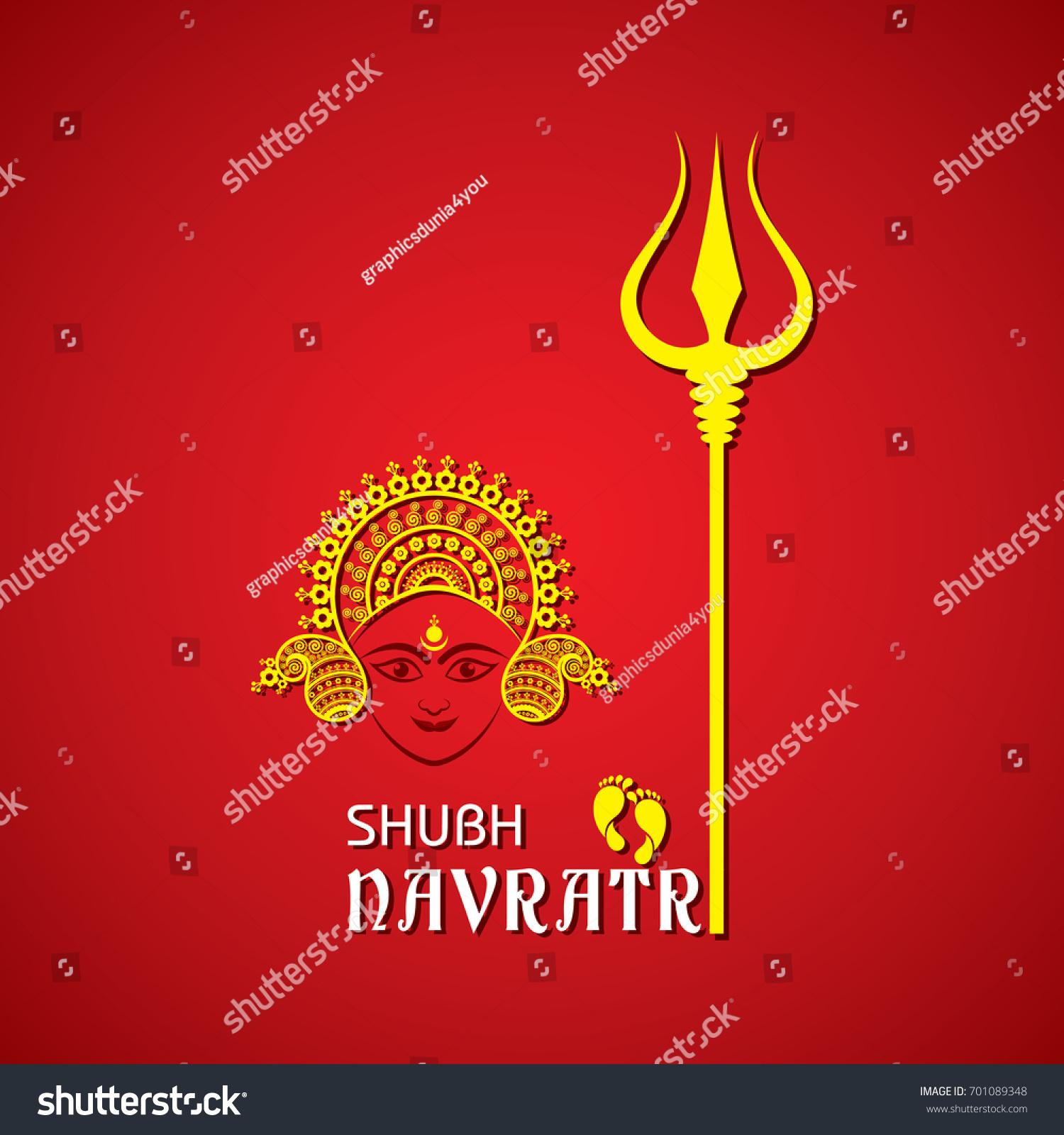 Illustration Navratri Utsav Greeting Card Stock Vector Royalty Free