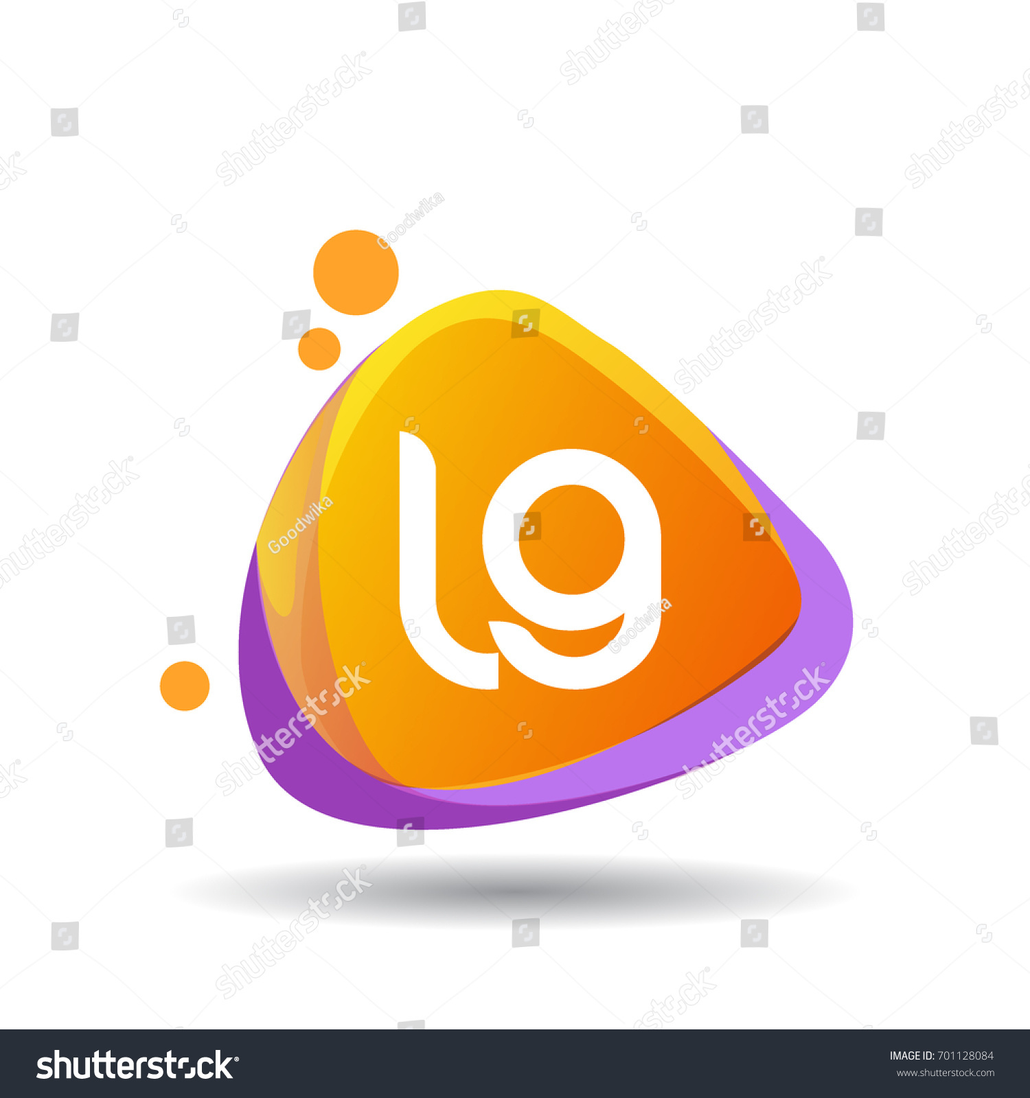 Letter Lg Logo Triangle Splash Colorful Stock Vector Royalty Free