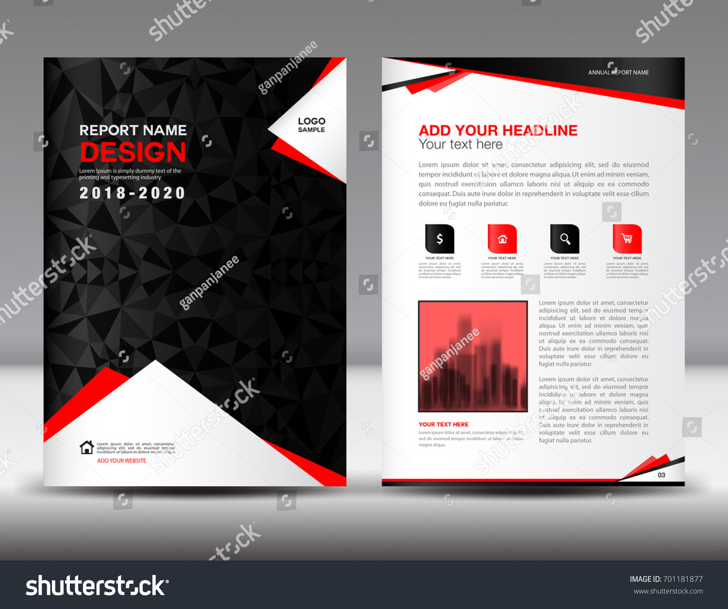 Magazine ad template business flyer template 4 color for Black brochure template