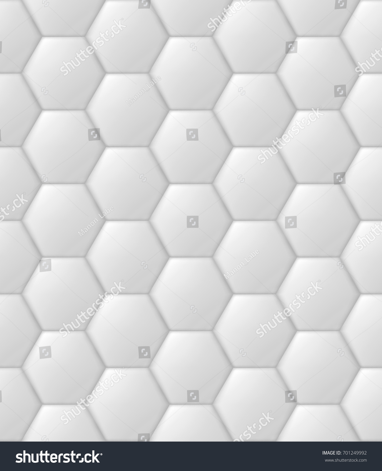 Hexagon Hive Futuristic Padded Wall Quilted Stock Vector (Royalty ...