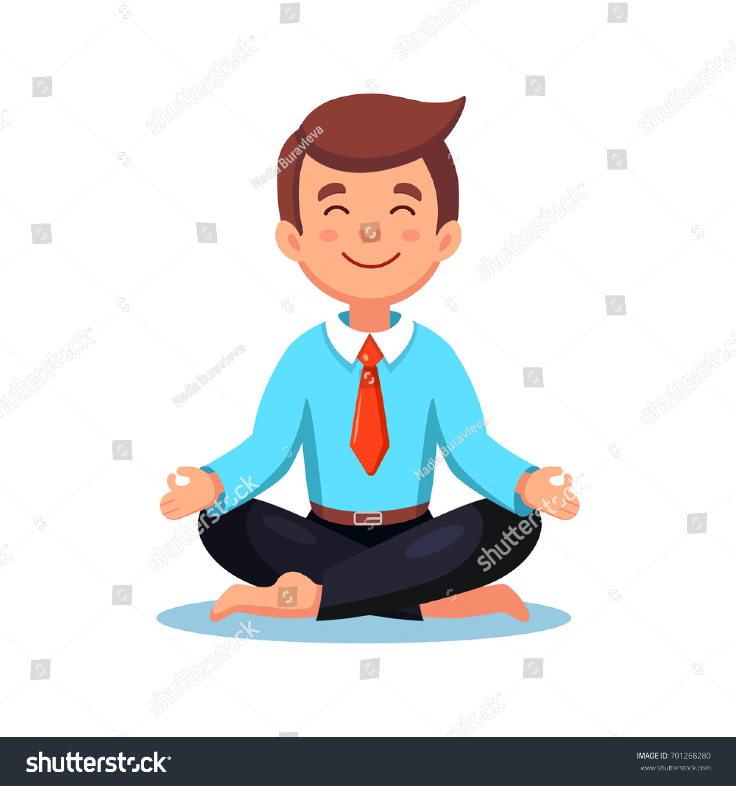 meditation businessman office. businessman meditating in lotus pose isolated on white background man suit doing yoga and meditation office