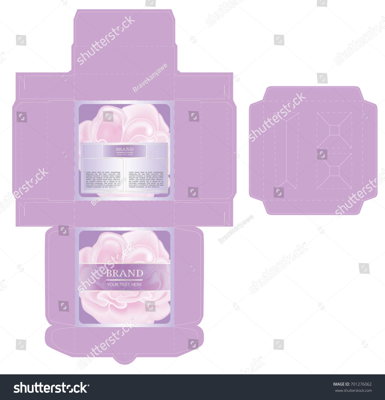 Packaging Design Rose Box Design Set Stock Vector Royalty Free