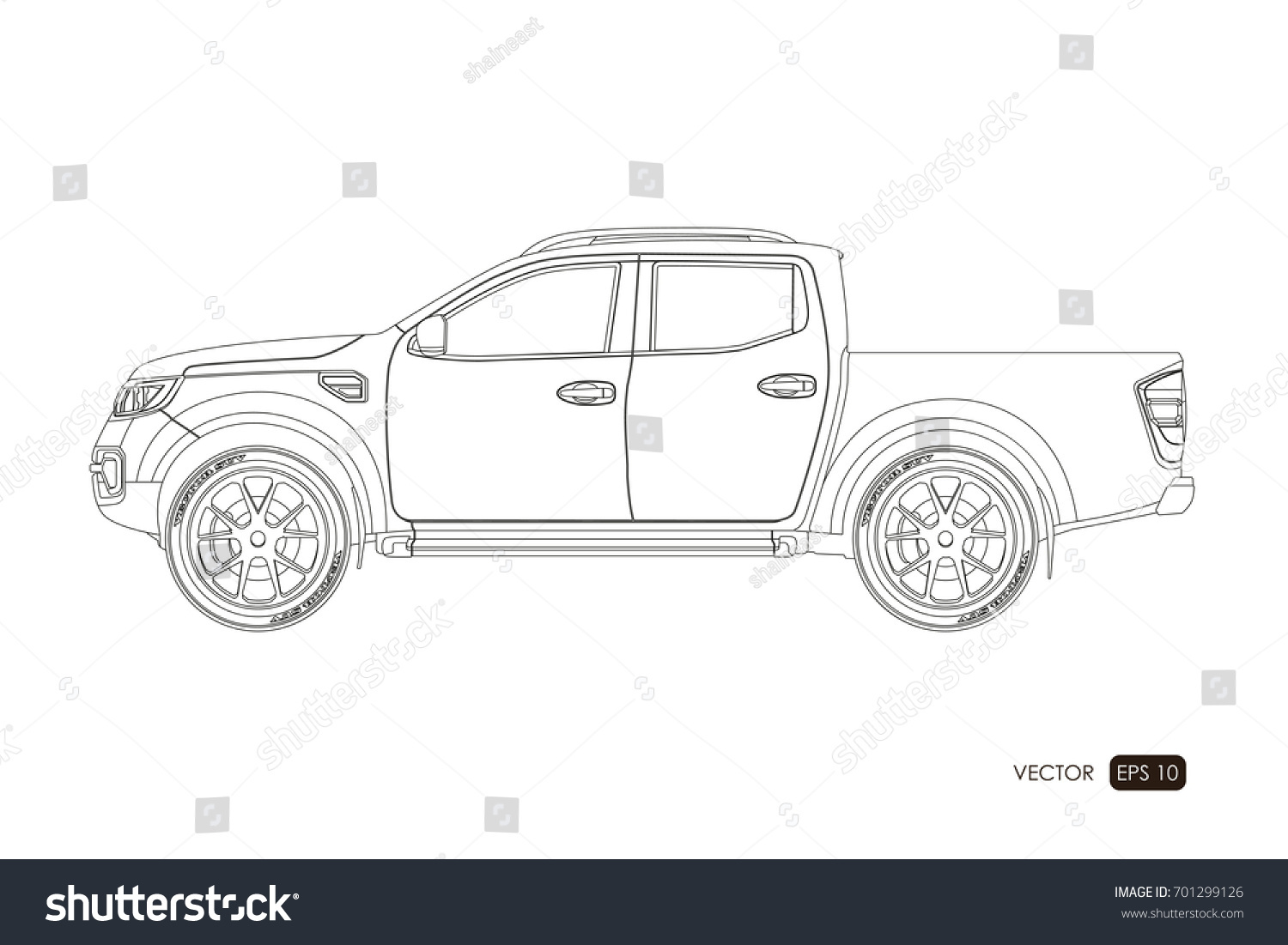 Blueprint suv contour drawing car on stock vector 701299126 blueprint of suv contour drawing of car on a white background side view of malvernweather Choice Image