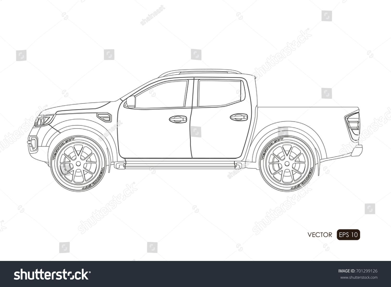 Blueprint suv contour drawing car on vector de stock701299126 blueprint suv contour drawing car on vector de stock701299126 shutterstock malvernweather Image collections