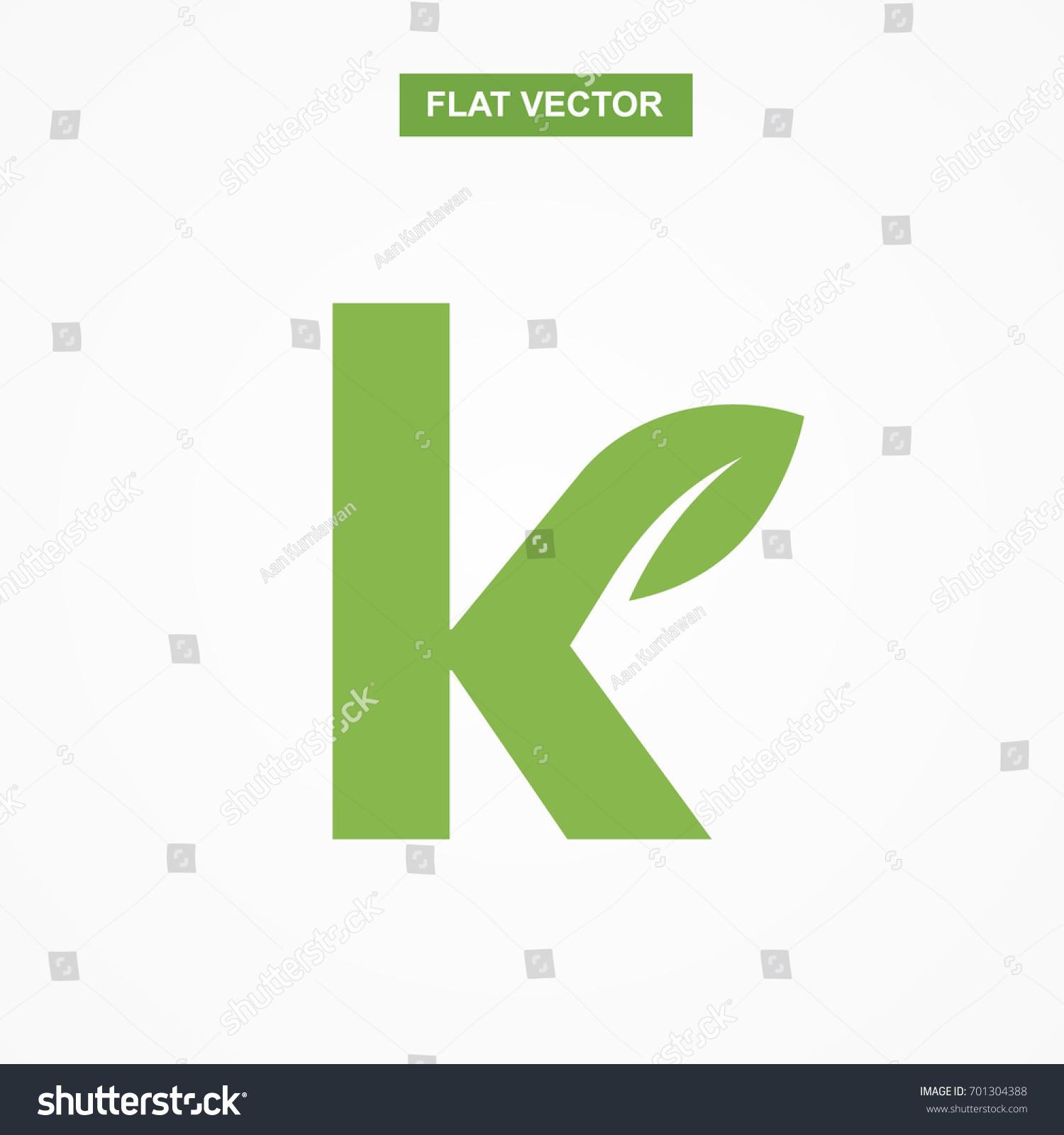 K letter font logo flat leaf stock vector 701304388 shutterstock k letter font logo flat with leaf vector logo template biocorpaavc Gallery