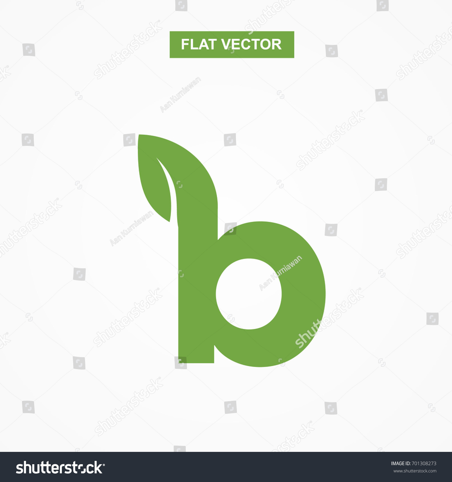 B Letter Font Logo Flat Leaf Stock Photo Photo Vector