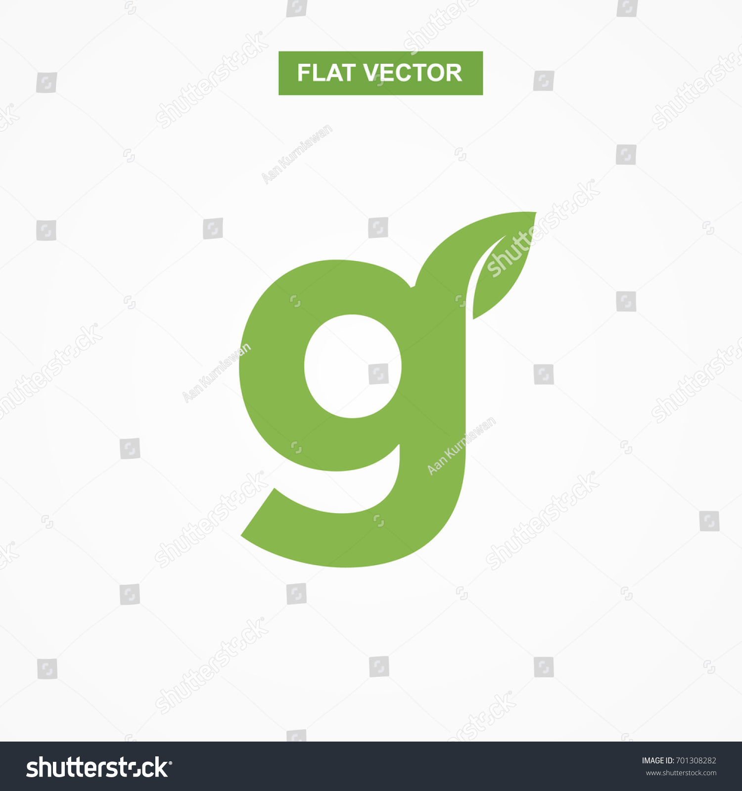 G letter font logo flat leaf stock vector 701308282 shutterstock g letter font logo flat with leaf vector logo template biocorpaavc Gallery