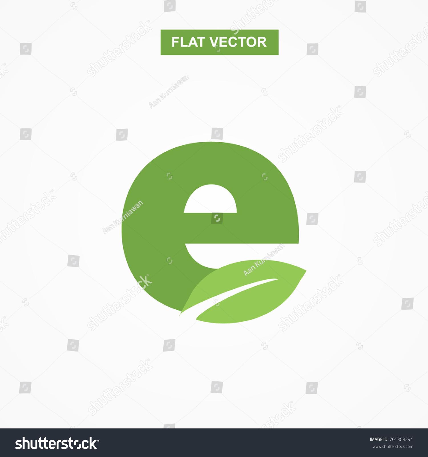 E letter font logo flat leaf stock vector 701308294 shutterstock e letter font logo flat with leaf vector logo template biocorpaavc Gallery