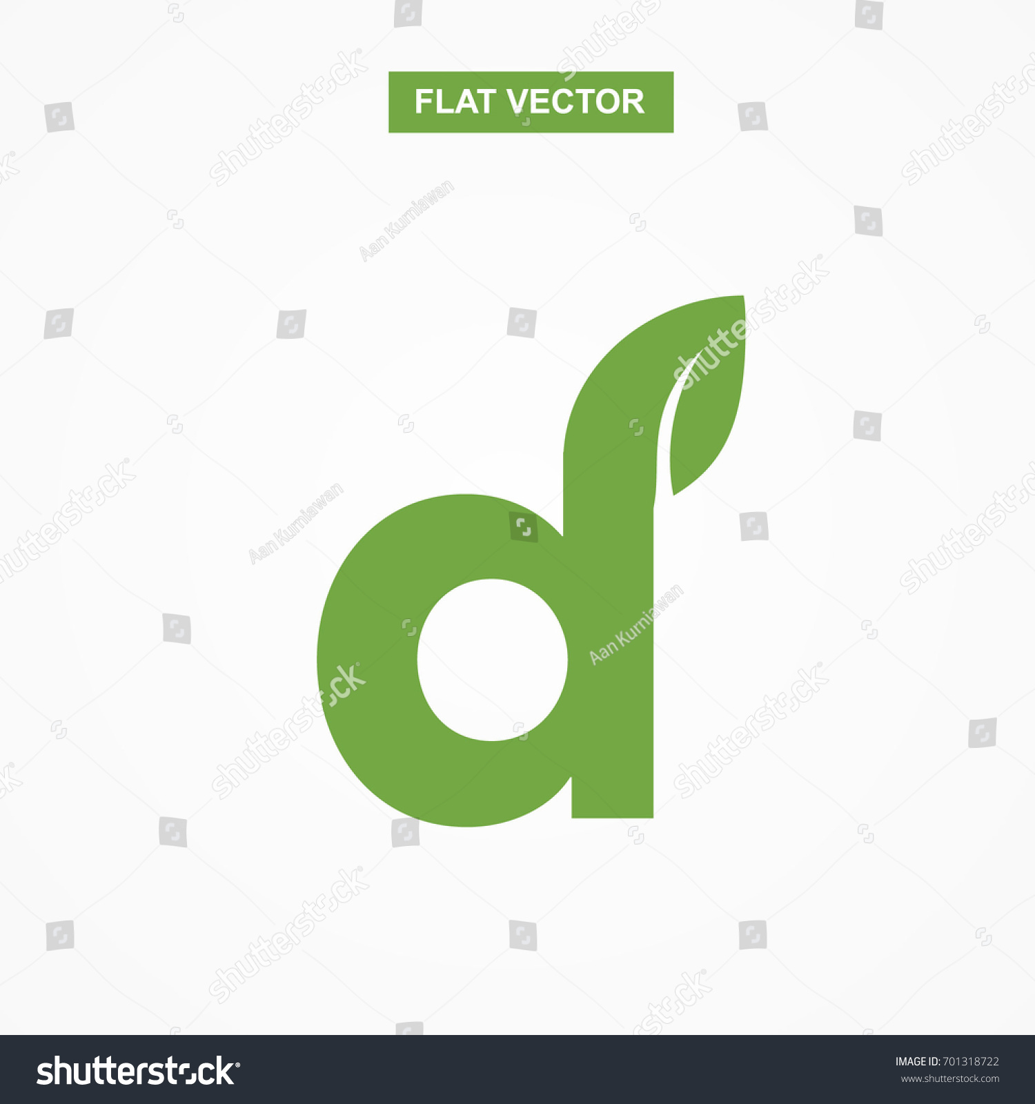D Letter Font Logo Flat Leaf Stock Photo Photo Vector