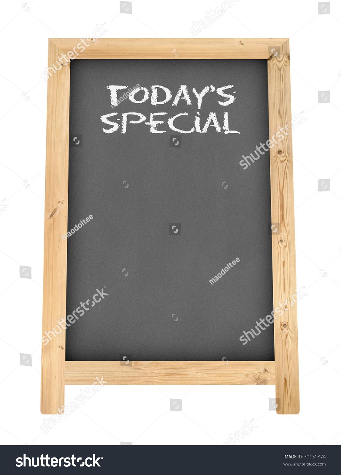 chalkboard floor stand menu todays special stock illustration