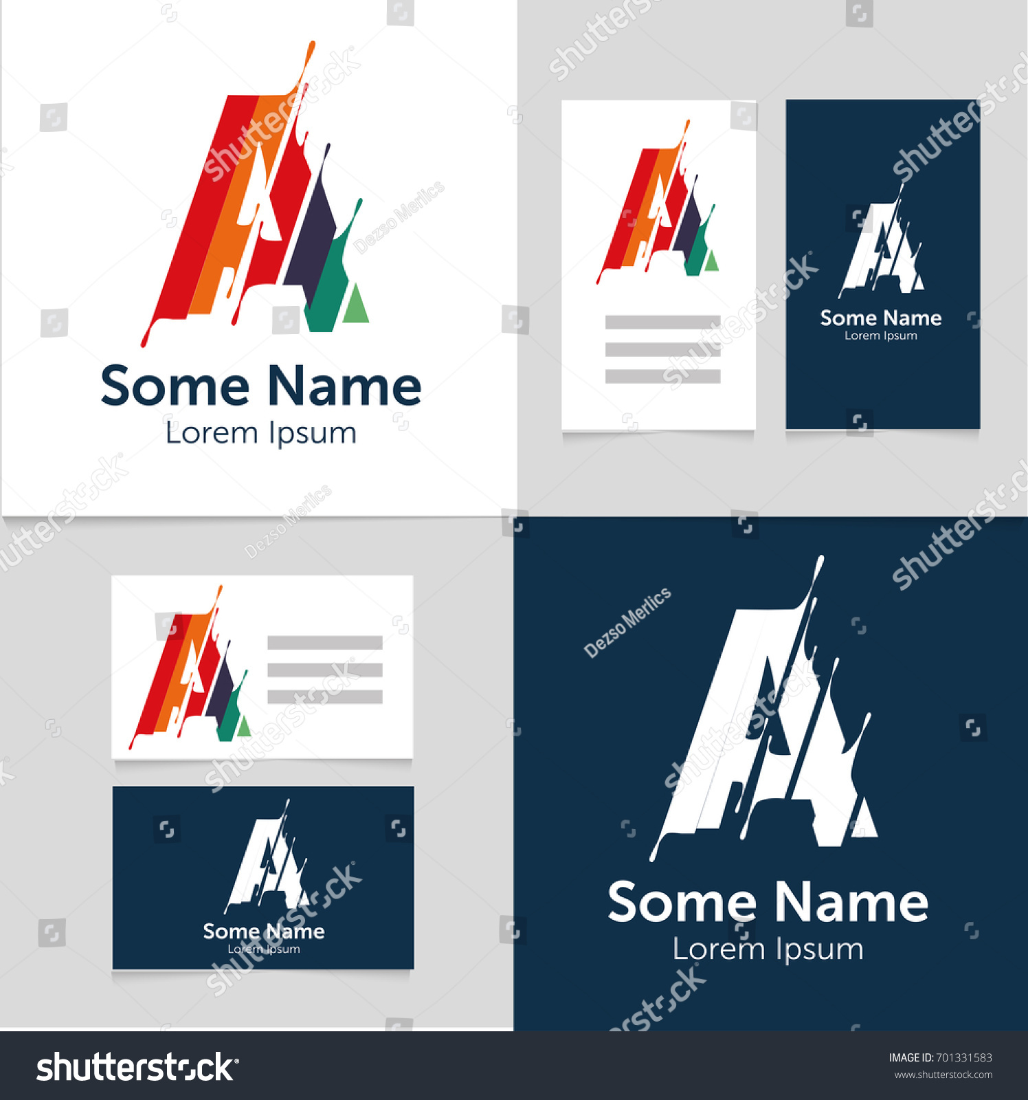 Editable Business Card Template Letter Logovector Stock Vector ...