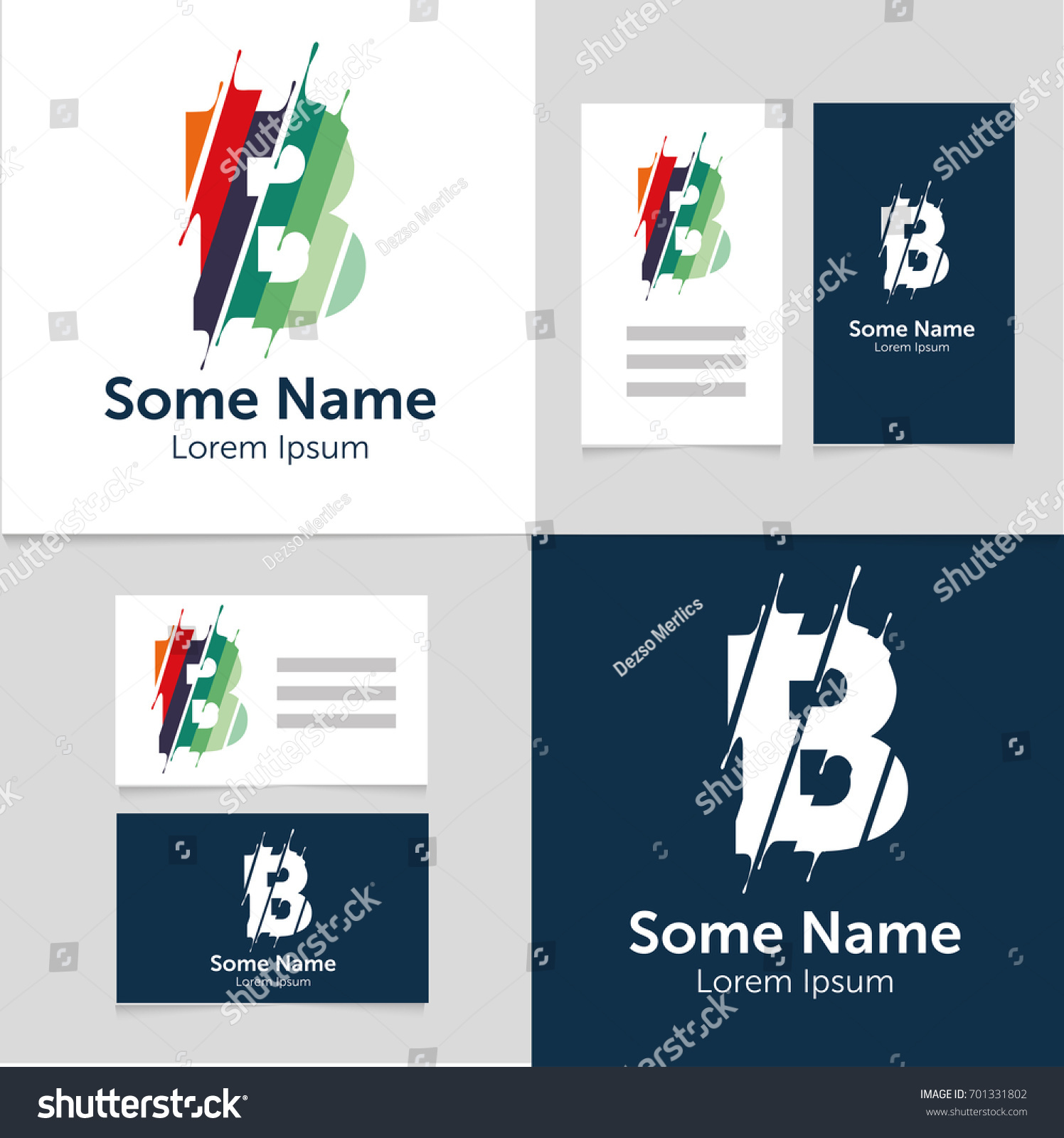 Editable business card template b letter stock vector royalty free editable business card template with b letter logoctor illustrationeps10 friedricerecipe Gallery