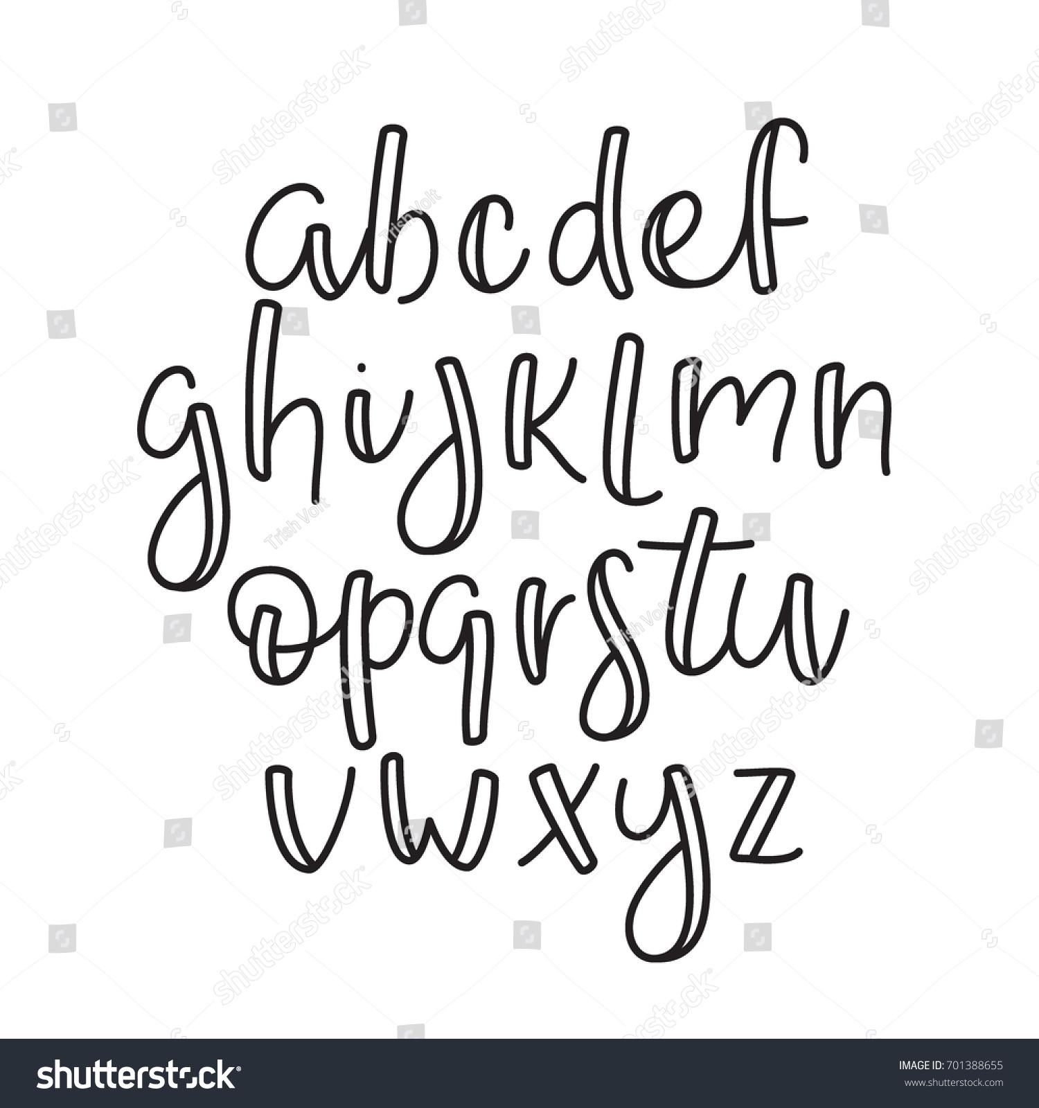 Super Simple ABC English Line Alphabet Thin Outline Lowercase Typographic Typeface Font