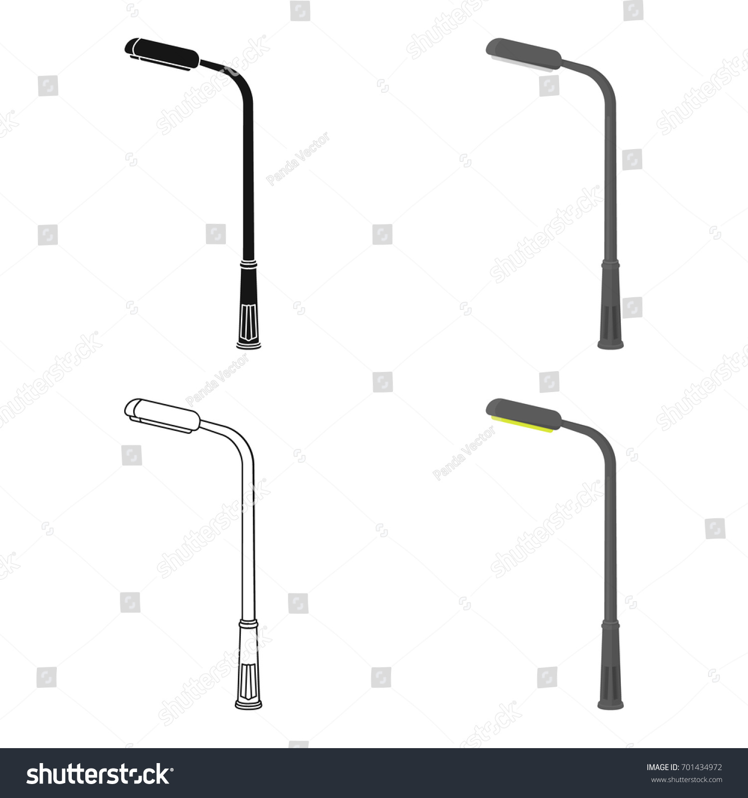 Modern Street Lamplamppost Single Icon Cartoon Stock Vector ... for Modern Street Lamp Post  117dqh