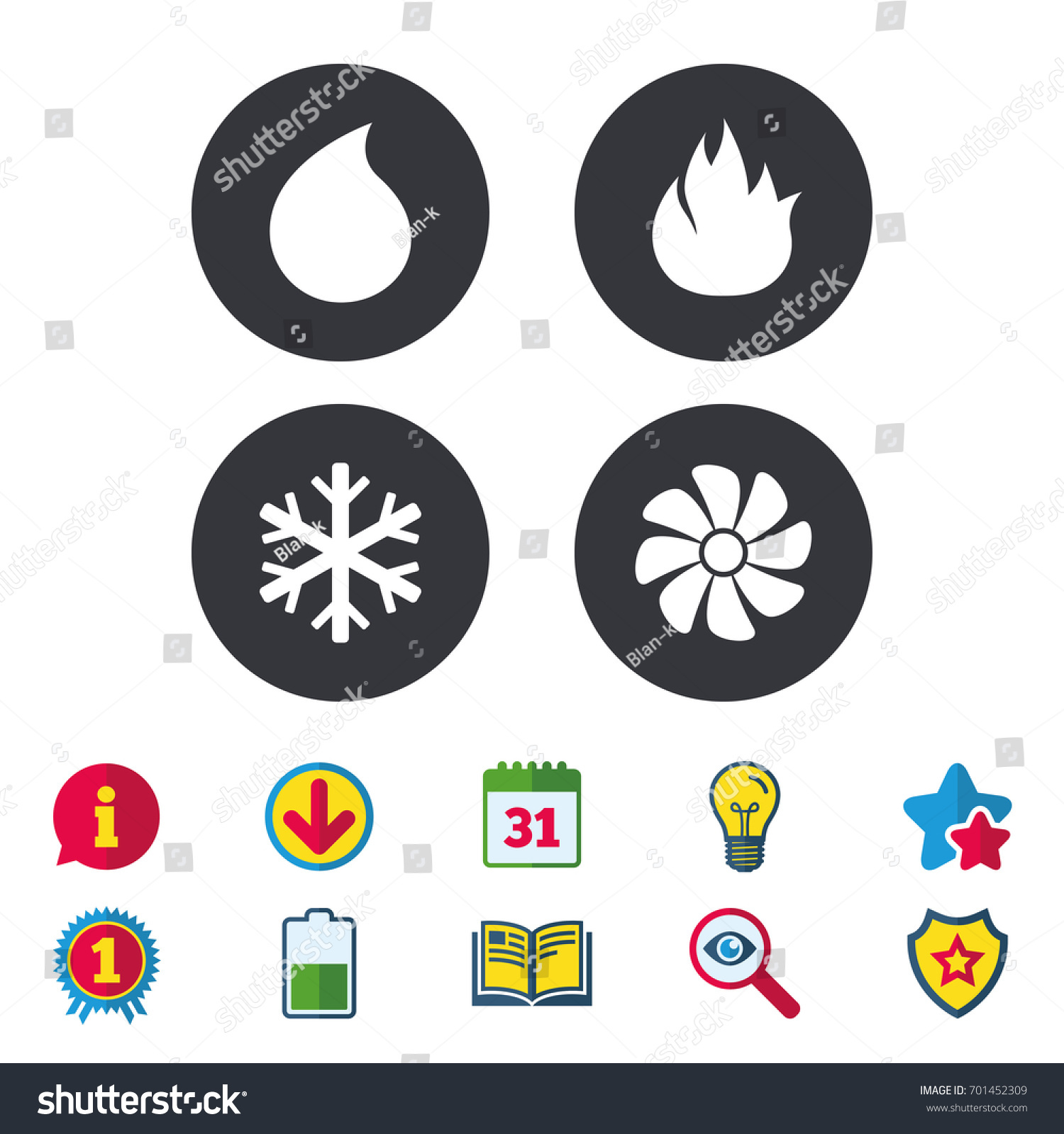 stock vector hvac icons heating ventilating and air conditioning symbols water supply climate control 701452309 hvac schematic symbols dolgular com  at aneh.co