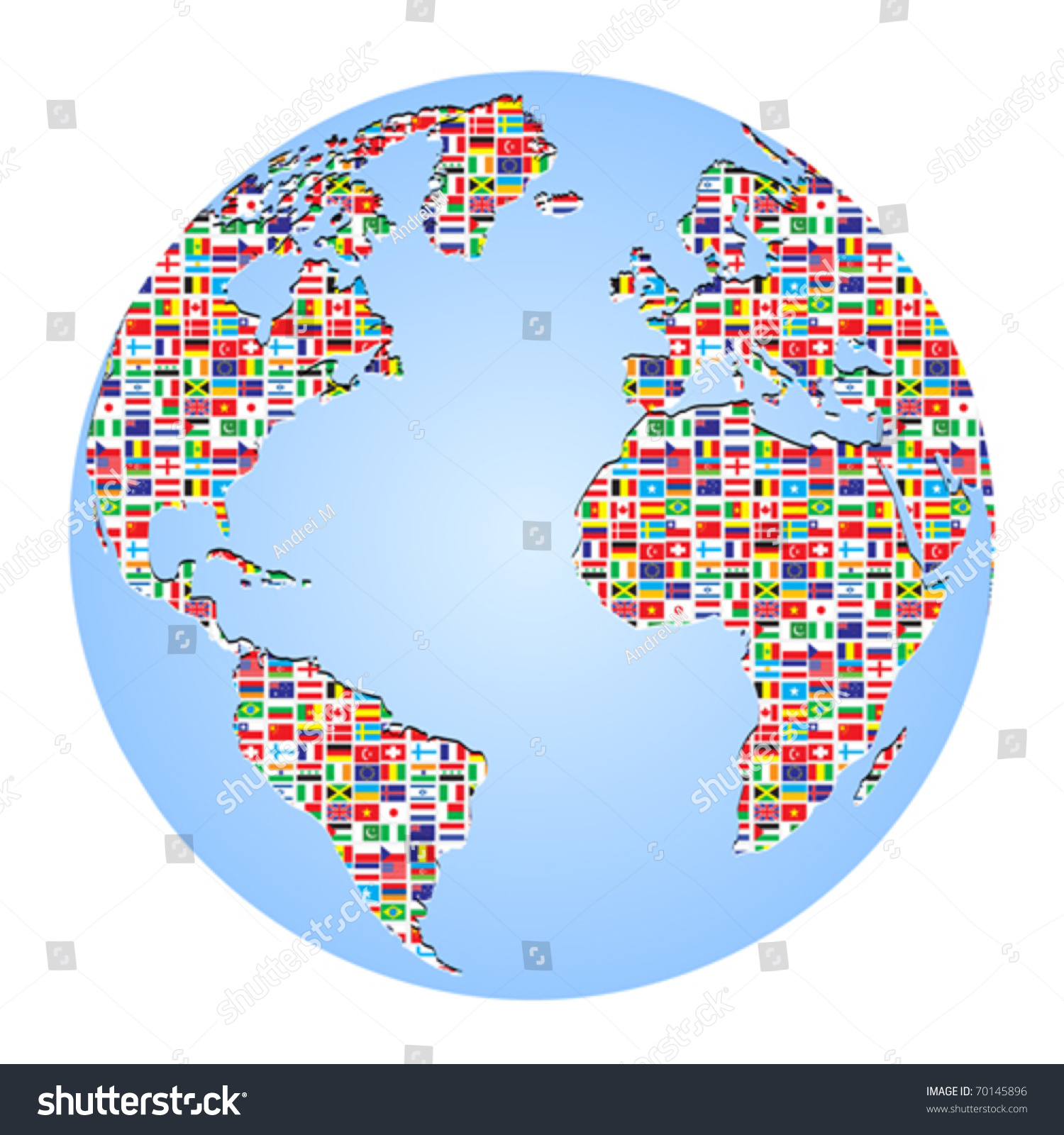 World map country flags on vectores en stock 70145896 shutterstock world map with country flags on it gumiabroncs Images
