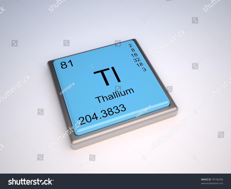 Thallium chemical element periodic table symbol stock illustration thallium chemical element of the periodic table with symbol tl iupac gamestrikefo Images