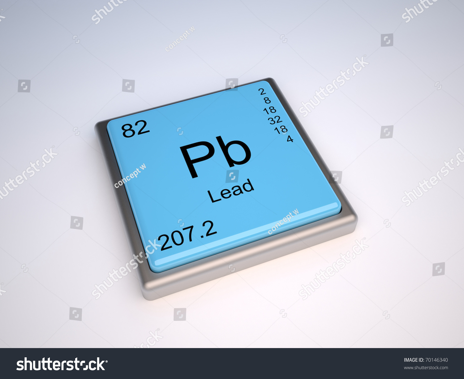 Lead Chemical Element Periodic Table Symbol Stock Illustration
