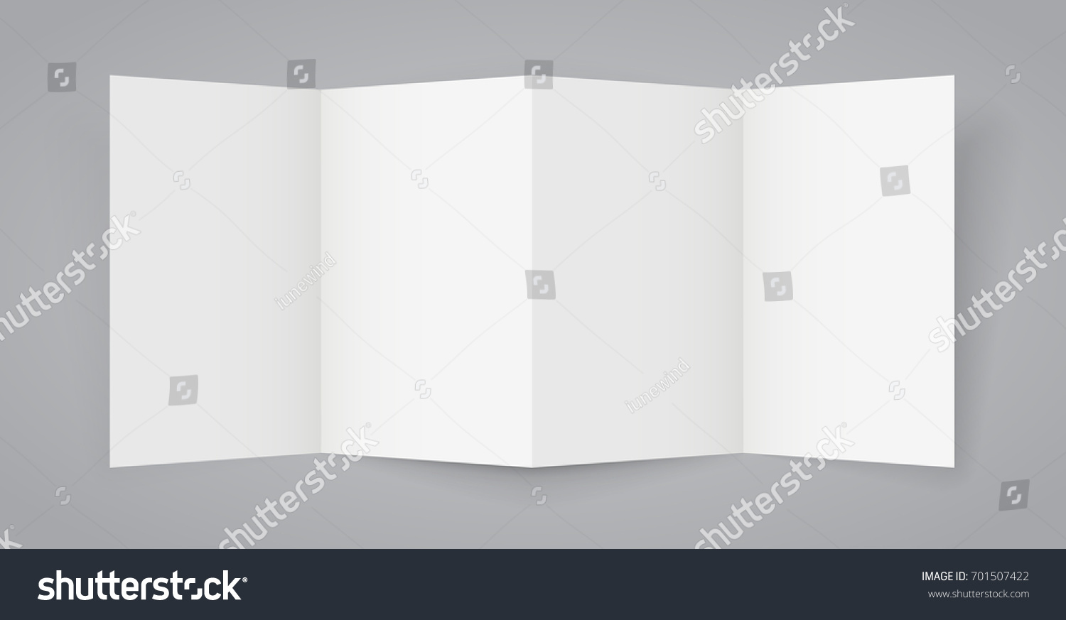 Fourfold Aa Brochure Template Realistic Vector Stock Vector - Four fold brochure template