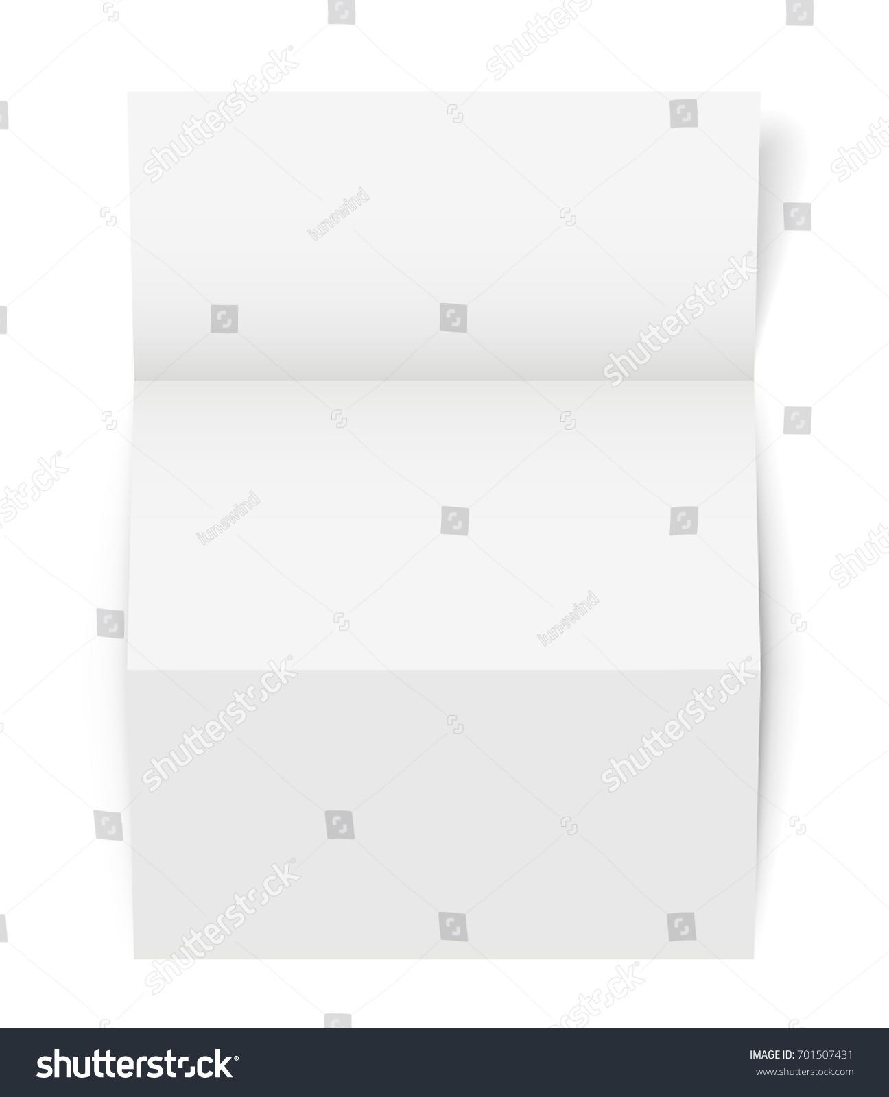vertical tri fold a 4 a 5 brochure template realistic stock vector