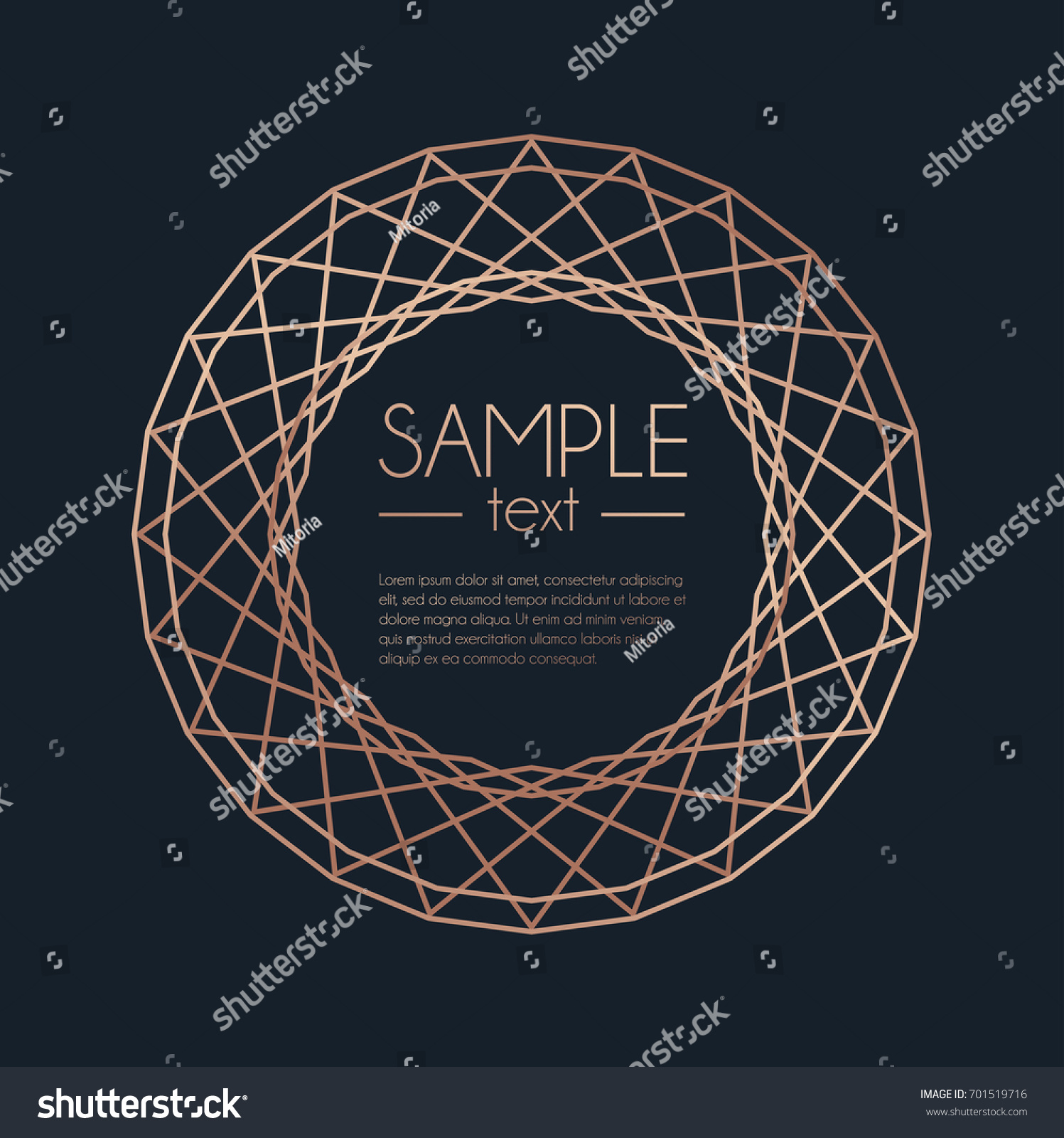 Geometric Rose Gold Design Template Modern Stock Vector HD (Royalty ...