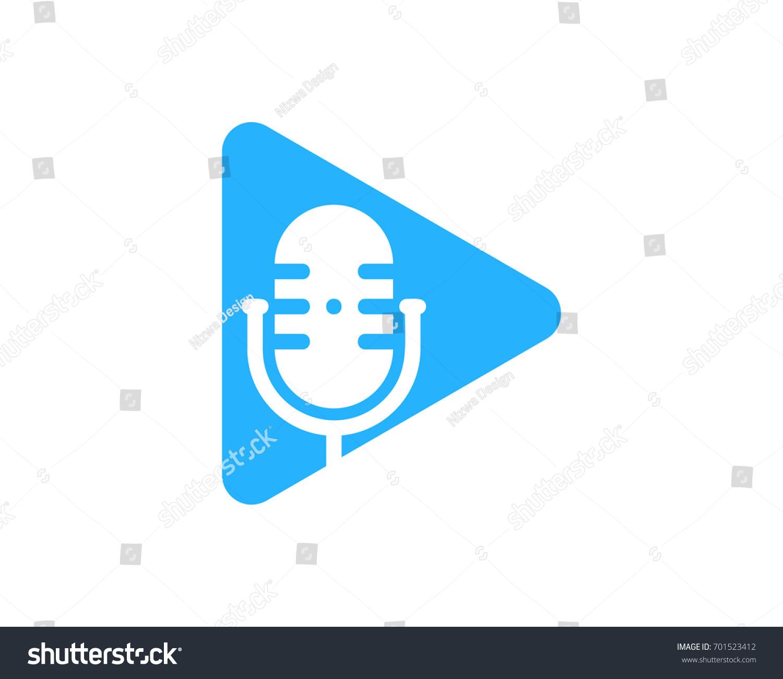 Video Podcast Icon Logo Design Element Stock-Vektorgrafik 701523412 ...