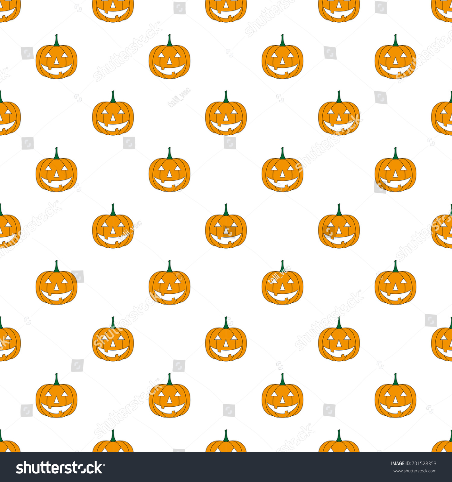 Halloween Pattern Pumpkin Cartoon Halloween Pumpkin Stock Vector Royalty Free 701528353