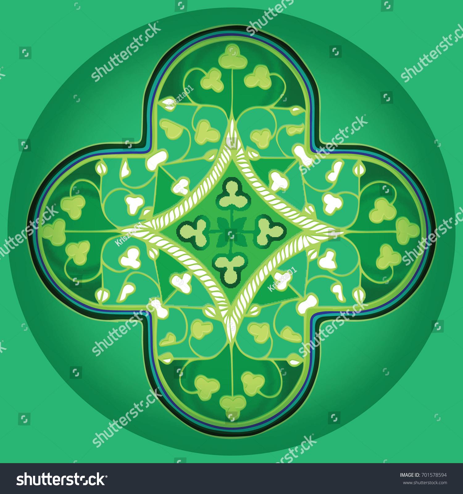 Health Mandala Green Balanced Activity Relaxation Stock Vector