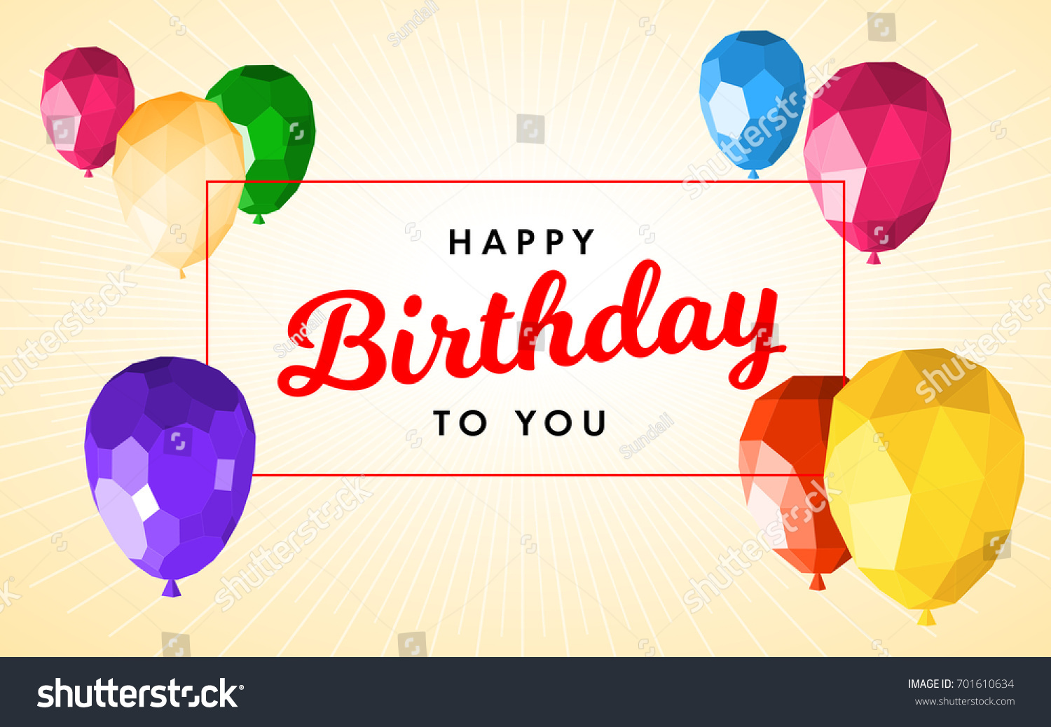 happy birthday greeting card template modern stock vector (royalty
