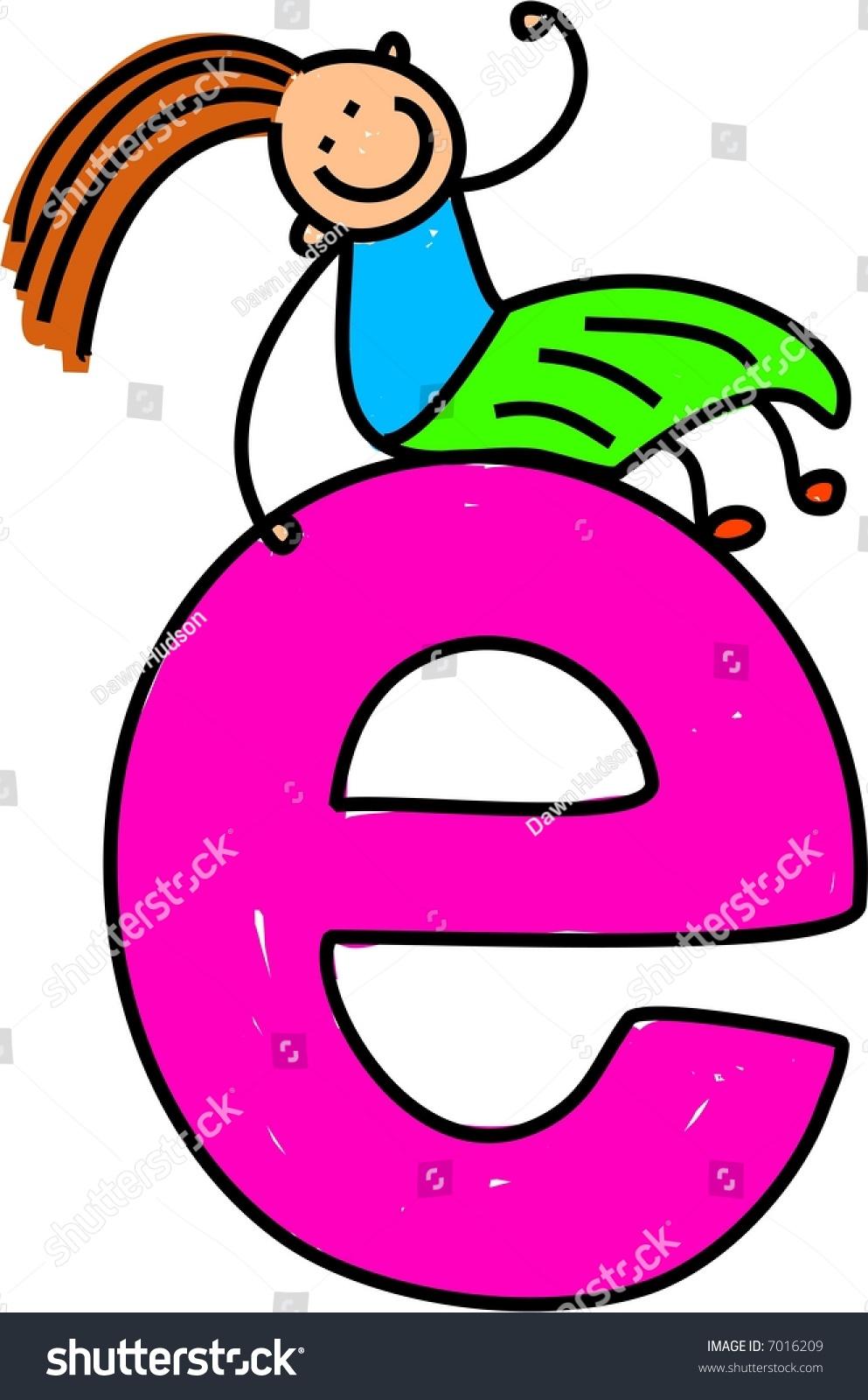 Letter E Girl Lowercase Version Stock Vector (Royalty Free) 7016209 ...
