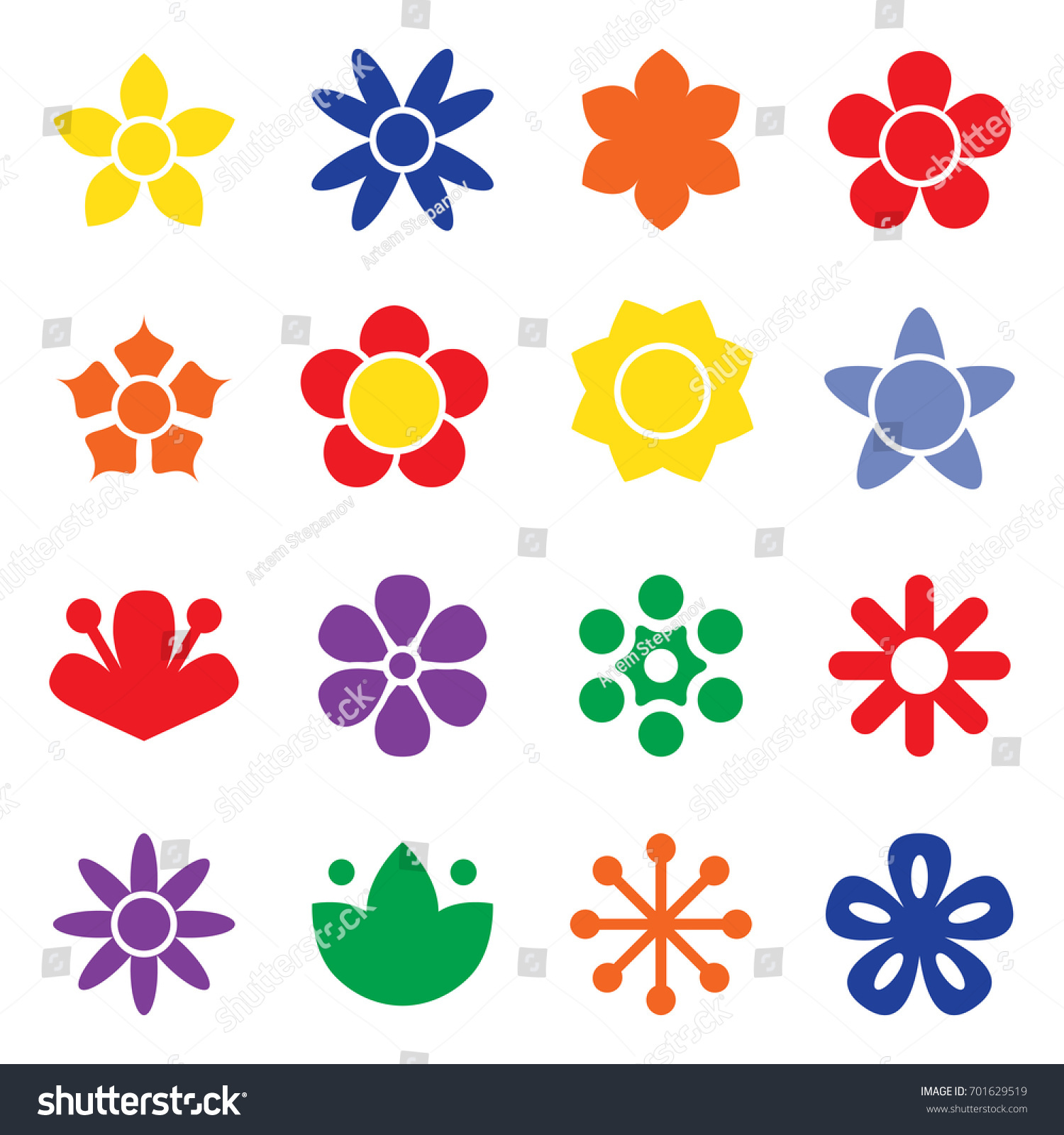 Flower icon collection flat style daisy stock vector 701629519 flower icon collection in flat style daisy symbol or logo template pictogram biocorpaavc Choice Image