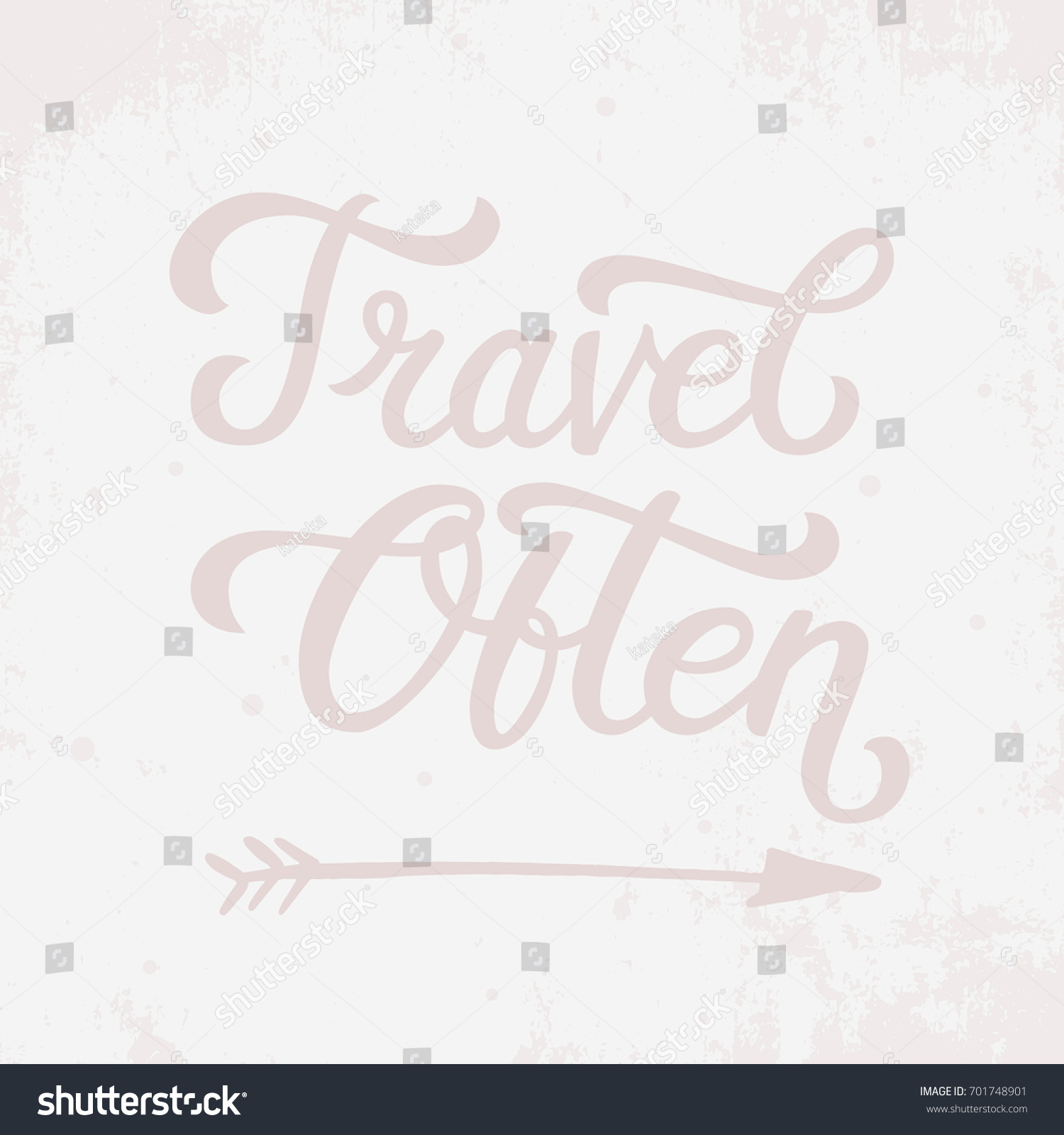Arrow Quotes Life Travel Often Life Style Inspiration Quotes Stock Vector 701748901