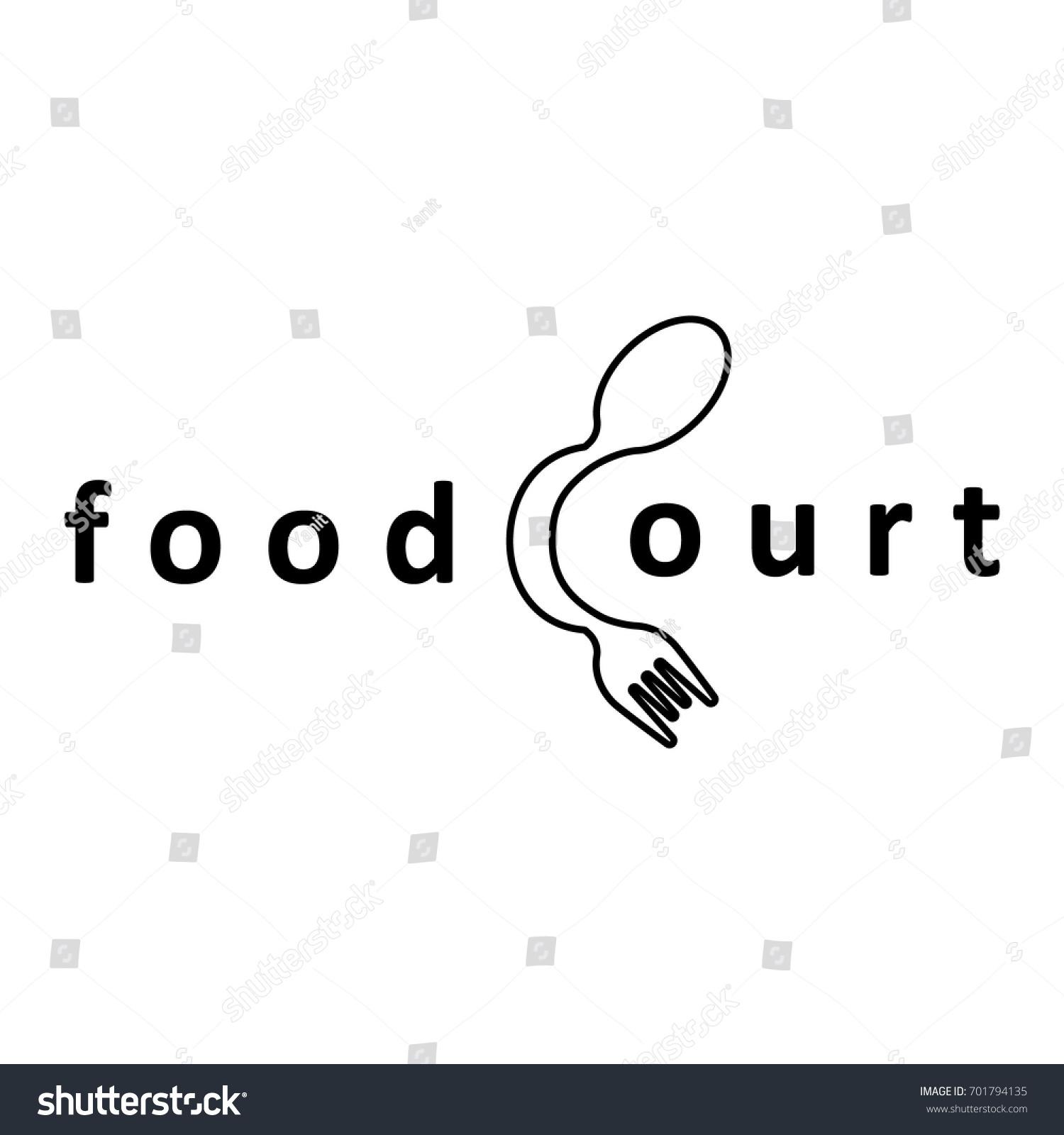 Food Logo Food Court Center Business Stock Vector