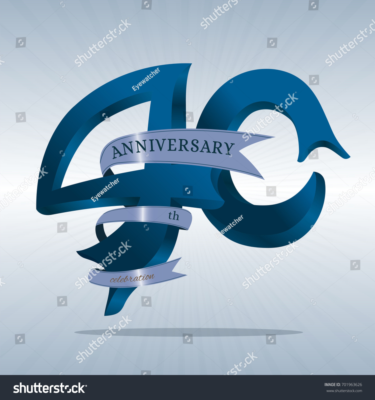 40th Anniversary Symbol Vector Stock Vector Royalty Free 701963626