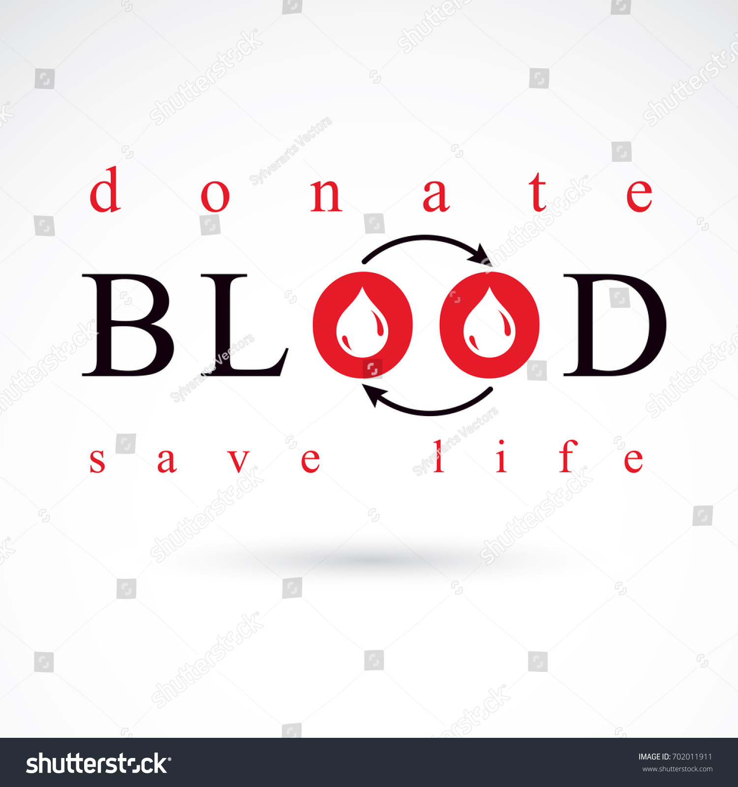 Blood donation symbol created red blood stock illustration blood donation symbol created with red blood drops and circulation arrows volunteer donorship healthcare buycottarizona