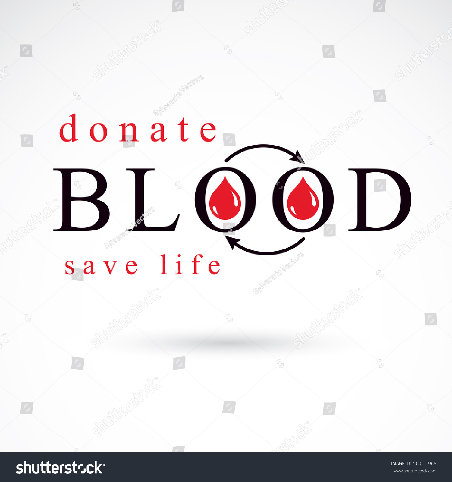 Blood donation symbol created red blood stock illustration blood donation symbol created with red blood drops and arrows blood transfusion metaphor medical buycottarizona