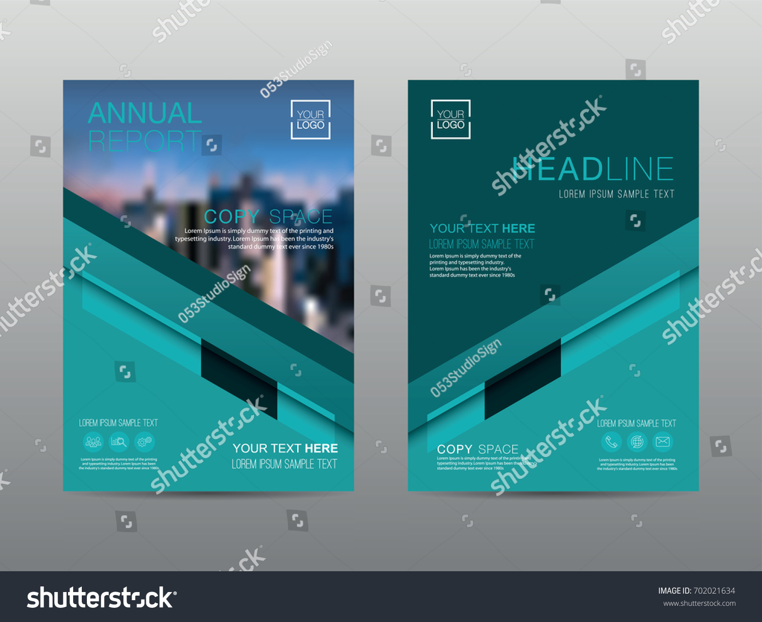 Annual Report Brochure Layout Design Template Stock Vector ...