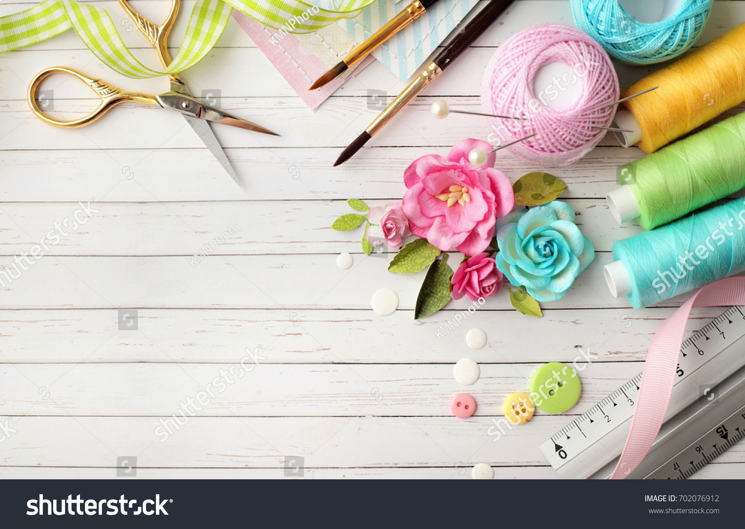 Making Scrapbook Greeting Card Tools On Stock Photo Royalty Free