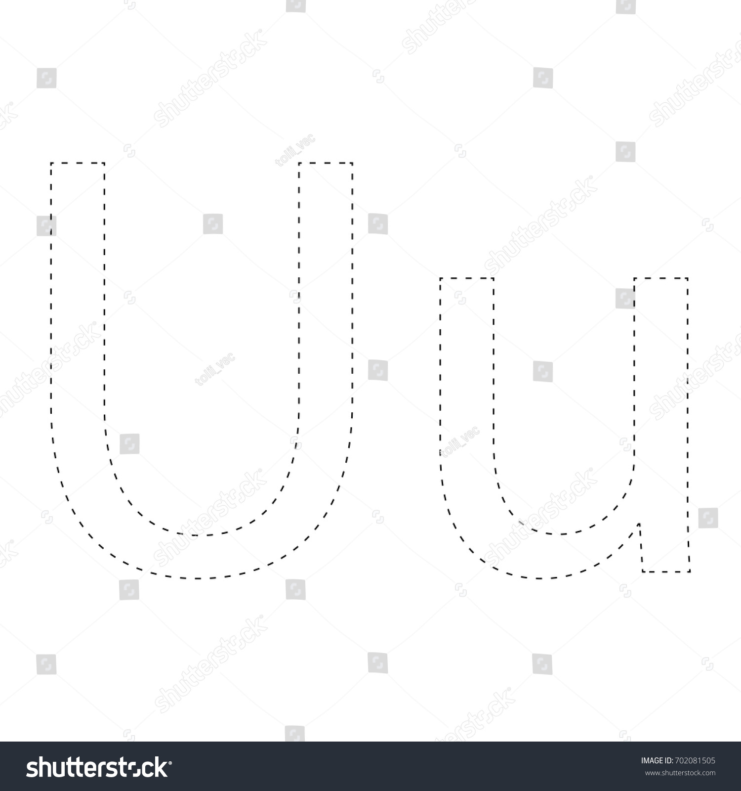 learning alphabet letter worksheet connect dots stock vector