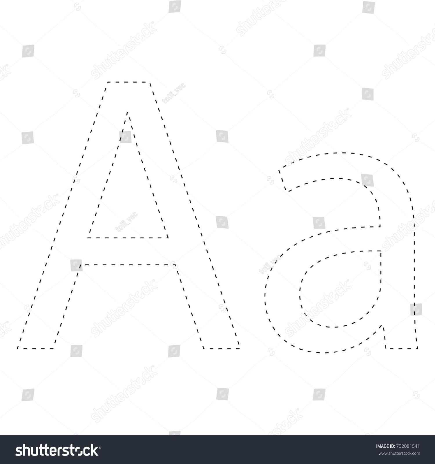 learning alphabet letter worksheet learning alphabet stock vector