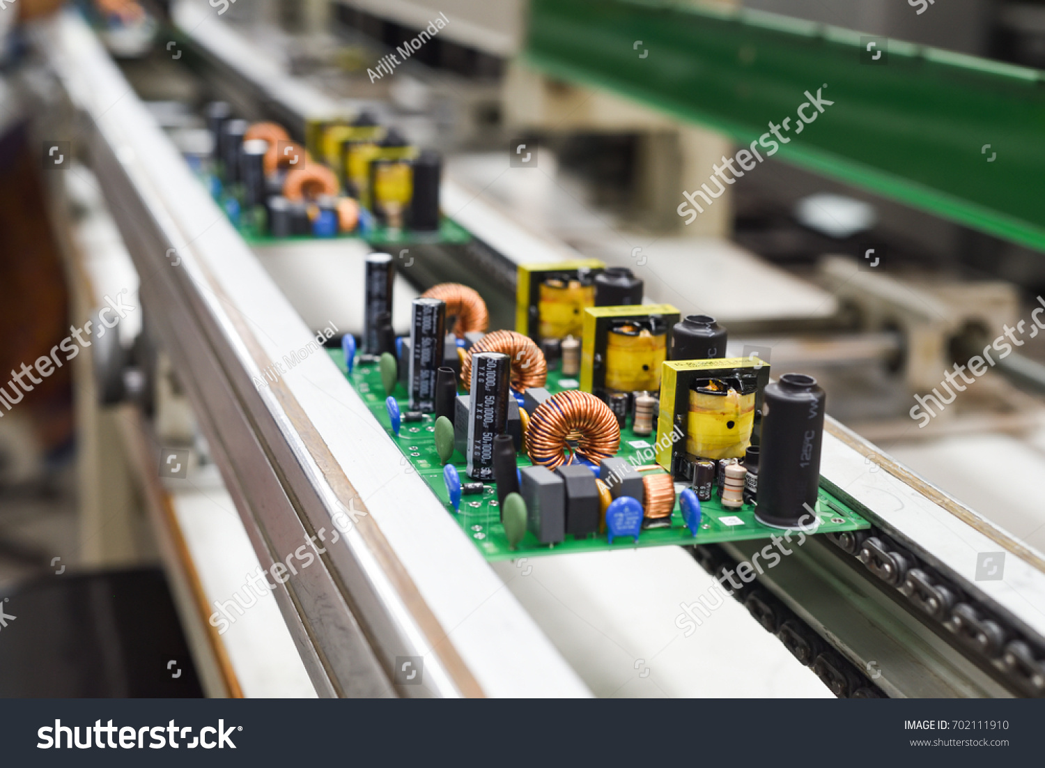 Manual Insertion Electronic Components On Printing Stock Photo Edit Circuit Boards Assembly Royalty Free Image Of Board Before Wave Soldering The
