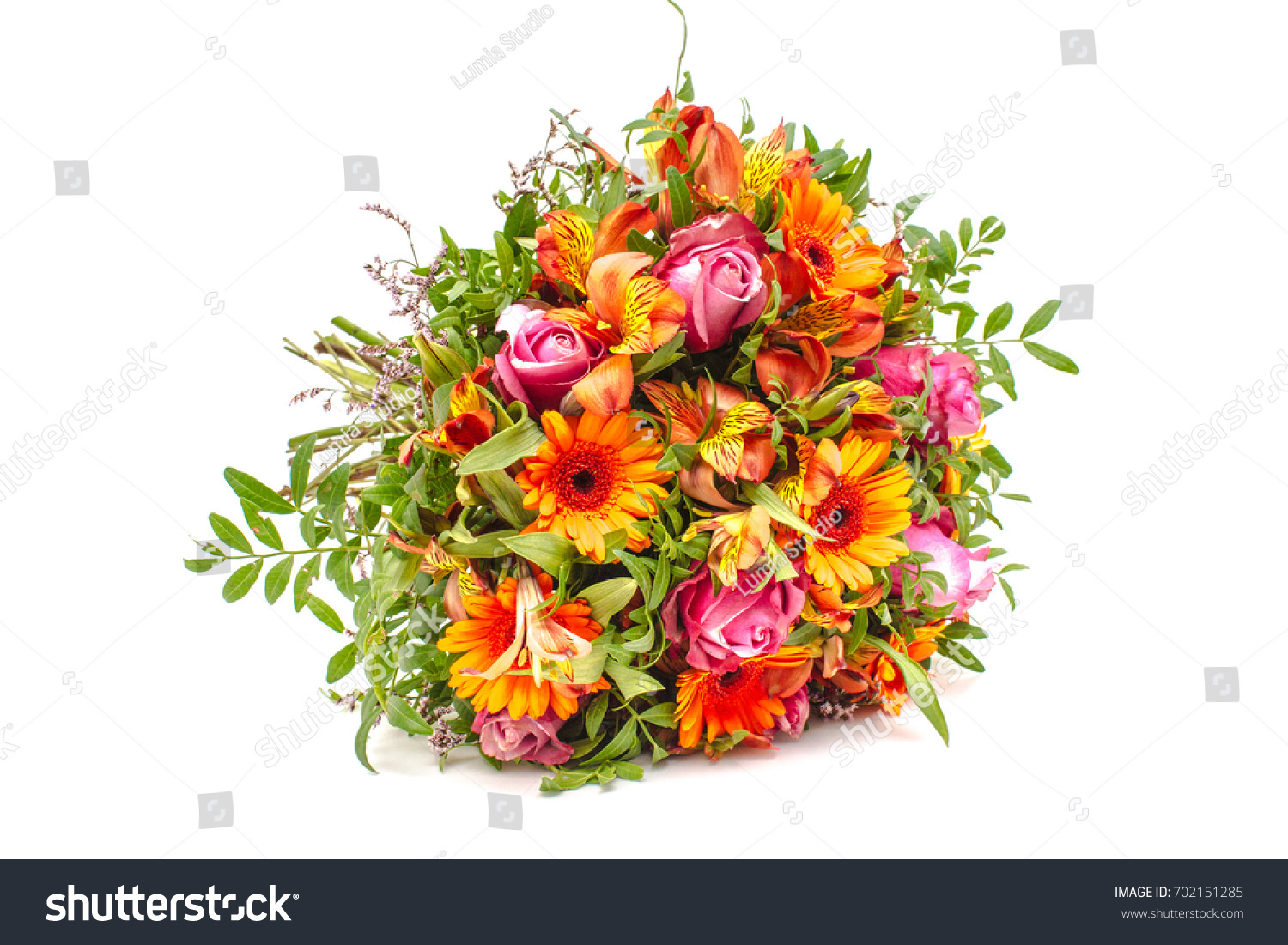 Wedding Bouquet Made In Orange And Pink Colors Ez Canvas