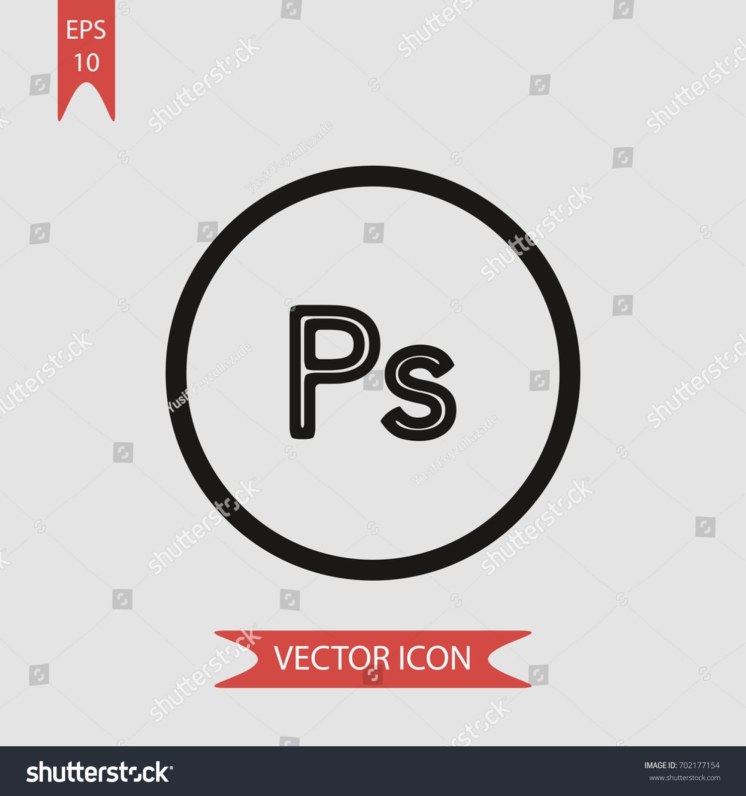 Ps circle vector icon illustration symbol stock vector 702177154 ps in circle vector icon illustration symbol buycottarizona