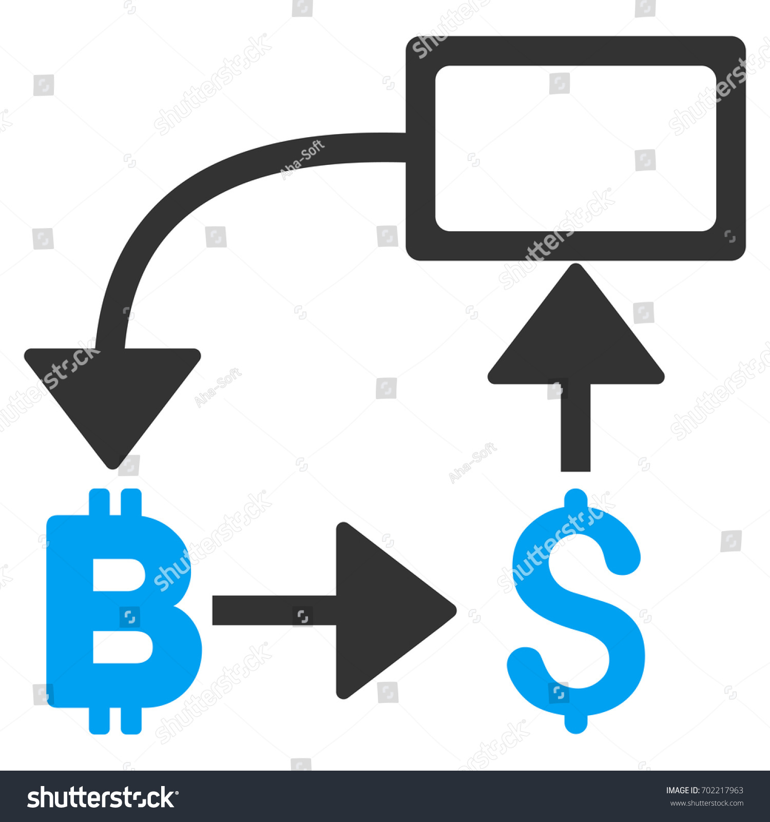 Bitcoin dollar flow chart flat raster stock illustration 702217963 bitcoin dollar flow chart flat raster icon for application and web design geenschuldenfo Image collections