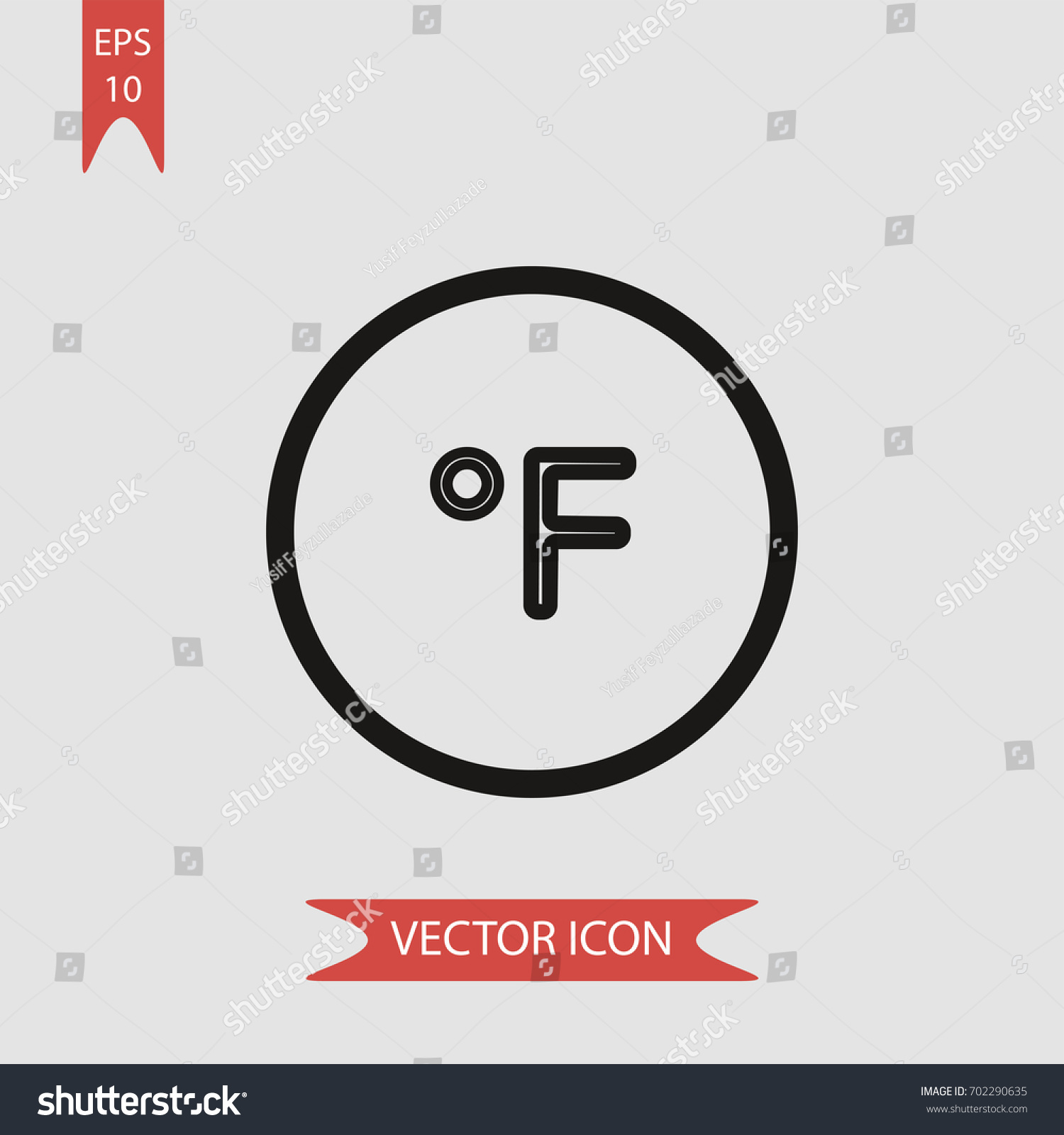 Fahrenheit degree circle vector icon illustration stock vector fahrenheit degree circle vector icon illustration symbol biocorpaavc Choice Image